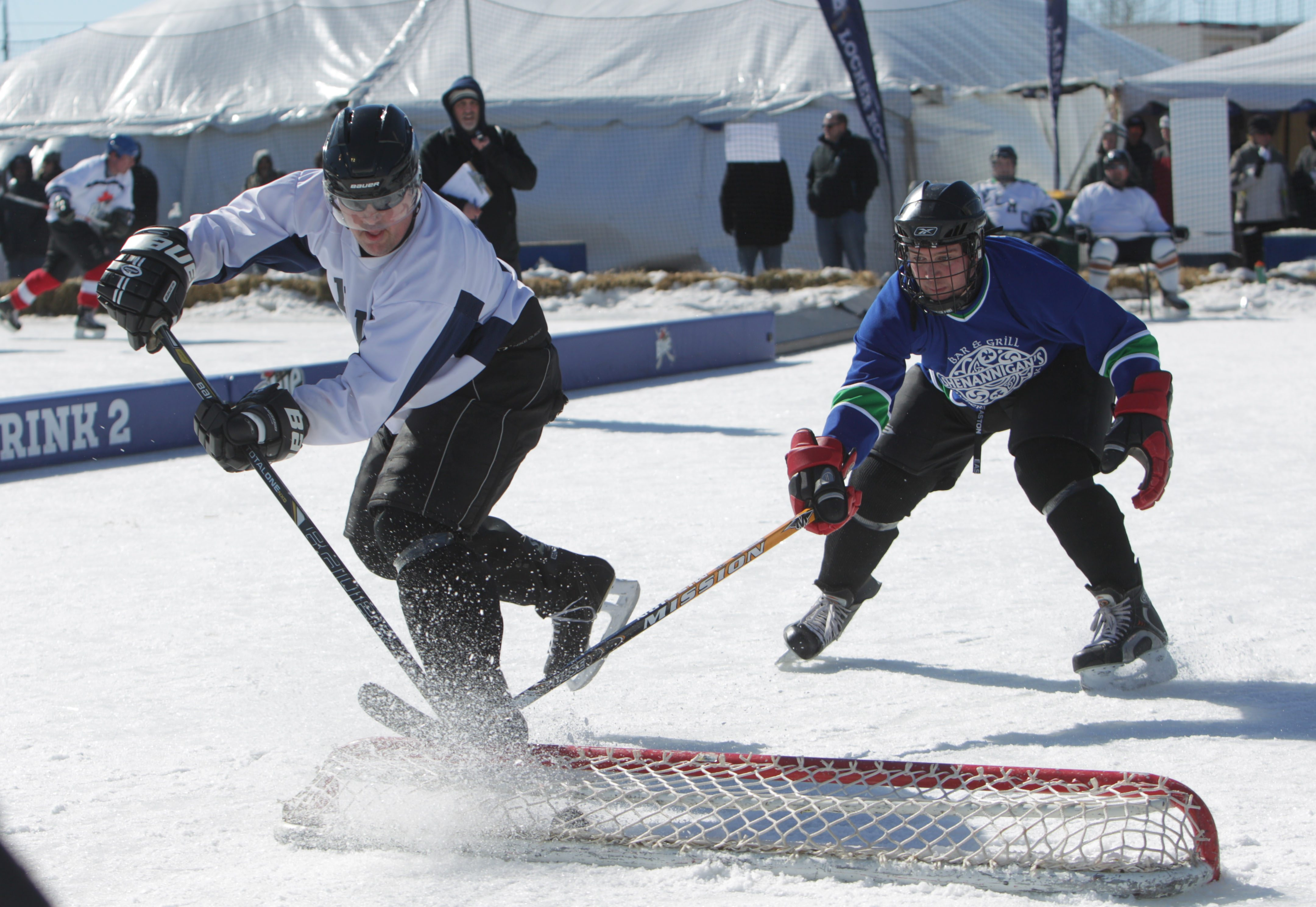 More than 800 players on 120 teams played in the Labatt Blue Buffalo Pond Hockey Tournament at the new Buffalo RiverWorks site on Ganson Ave in Buffalo.