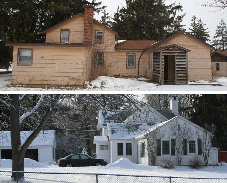 Erie County's rental properties include a vacant house in Como Lake Park in Lancaster, top, and a home in Chestnut Ridge Park in Orchard Park, above, with a private tenant.