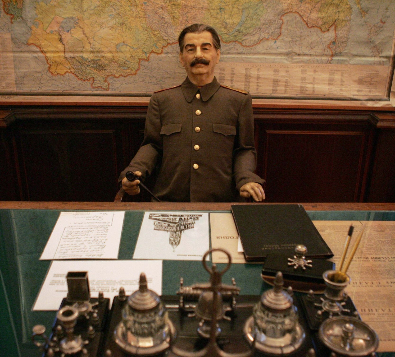 This life-size wax figure of Soviet leader Josef Stalin is on display at the museum that was once his summer home in Sochi, Russia.