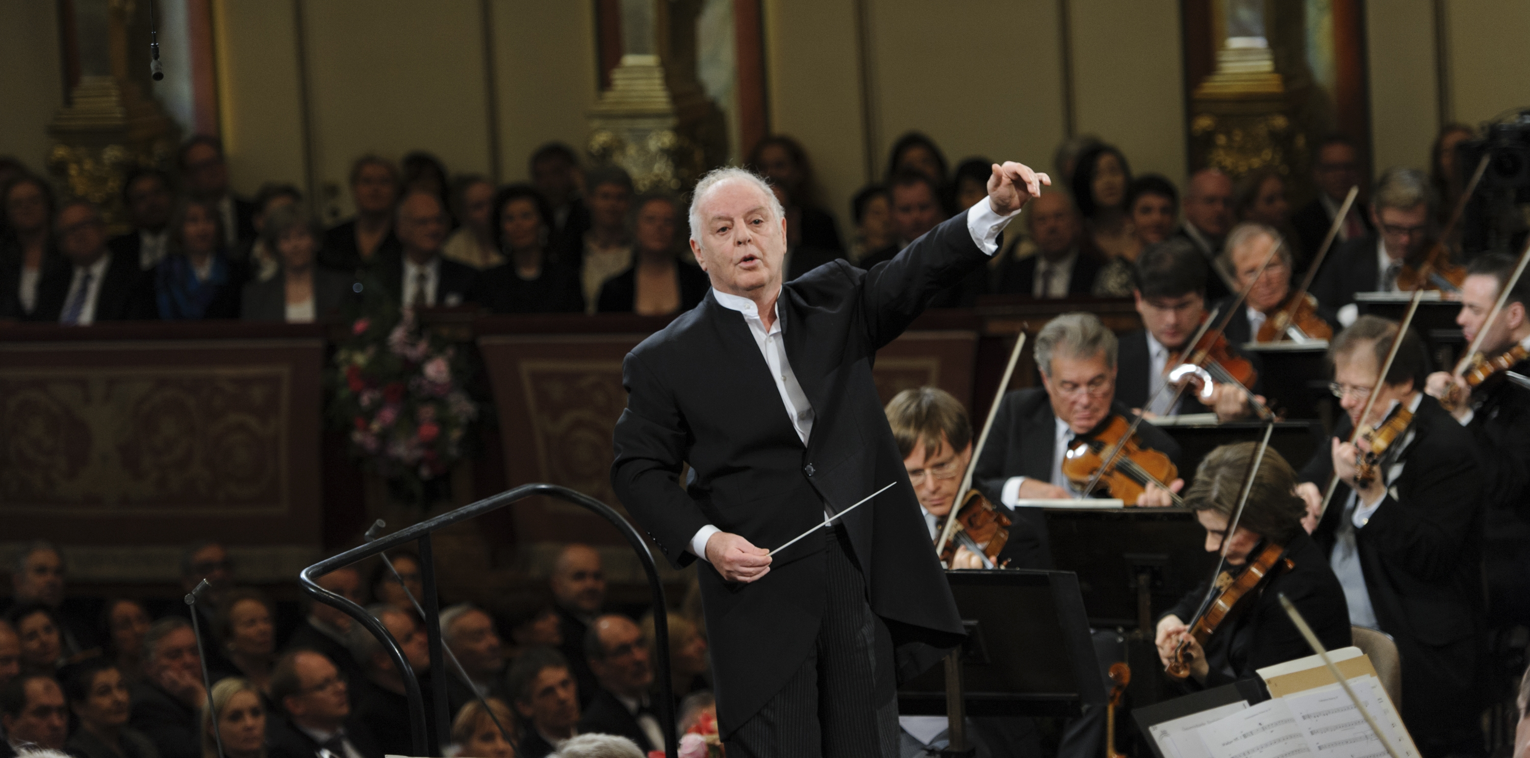Daniel Barenboim conducts the Vienna Philharmonic in its Strauss family-filled New Year's Day concert.
