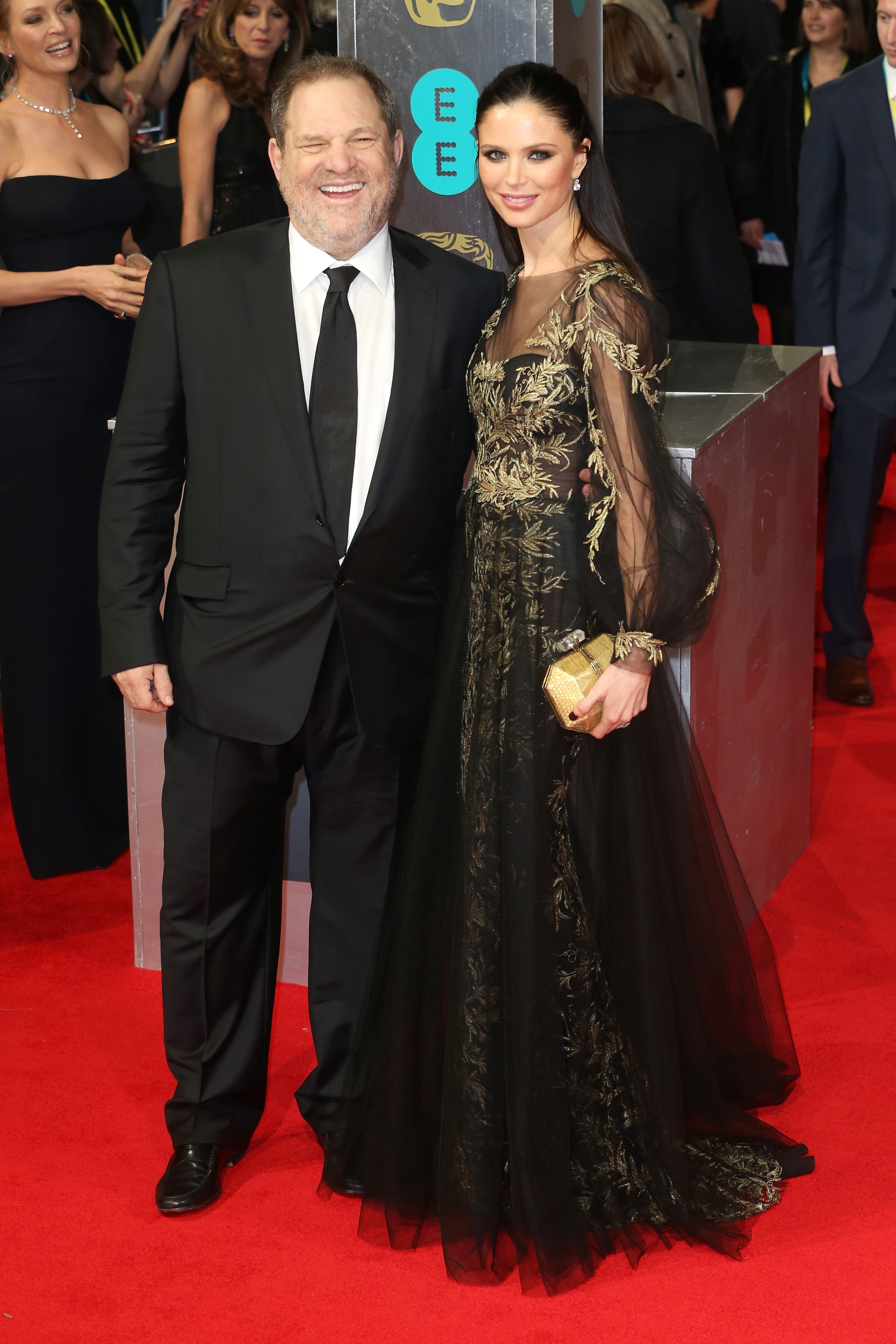 Across the pond: Producer Harvey Weinstein was in London Sunday with Georgina Chapman to attend the EE British Academy Film Awards 2014 at the Royal Opera House.