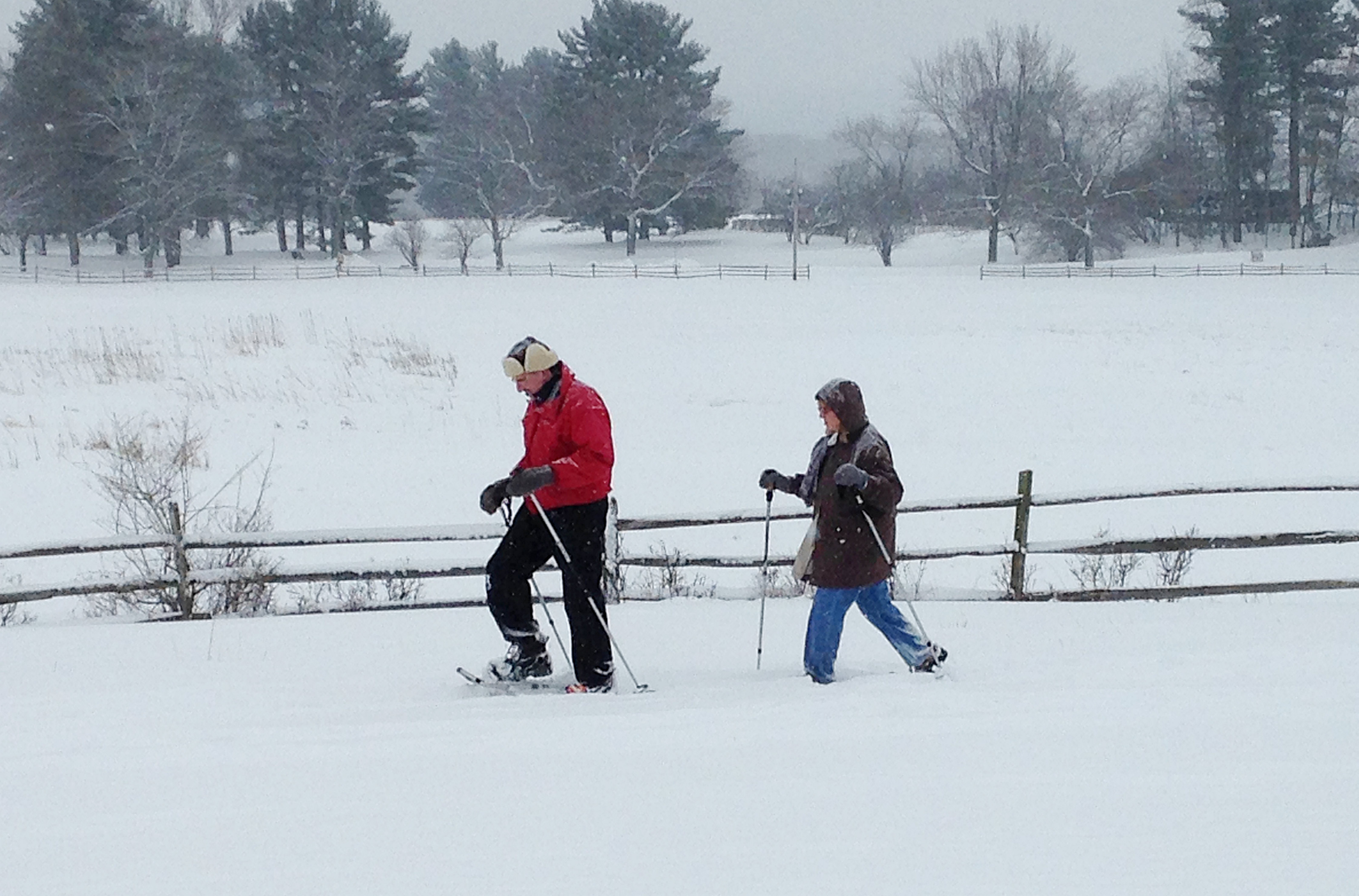 Steve and Rosemary Kelly cross-country ski at Knox Farm in East Aurora, one of Western New York's top destinations for the winter activity.