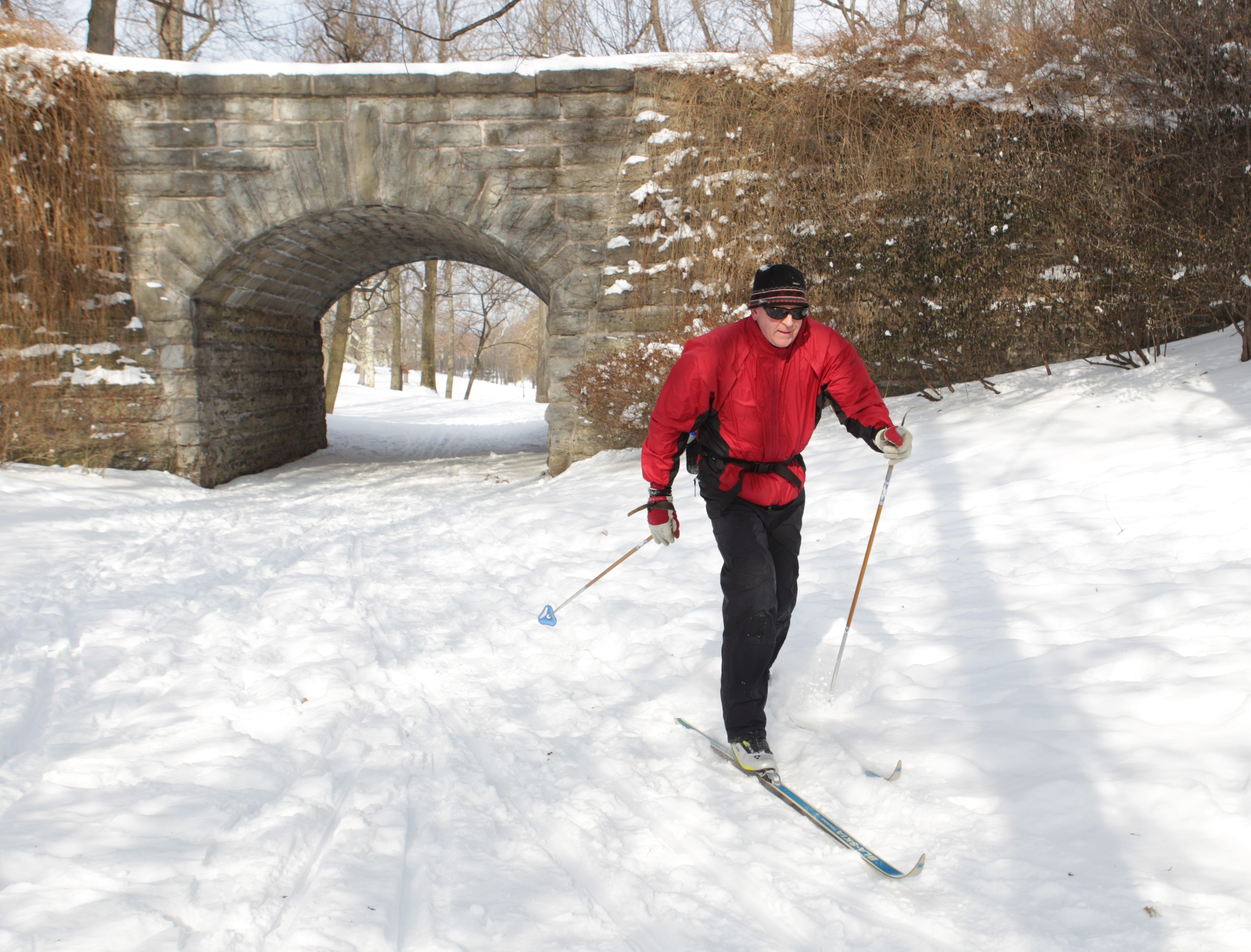 James Klein, president of the Buffalo Nordic Ski Club, gives free cross-country skiing lessons at 10 a.m. Sundays in Delaware Park.