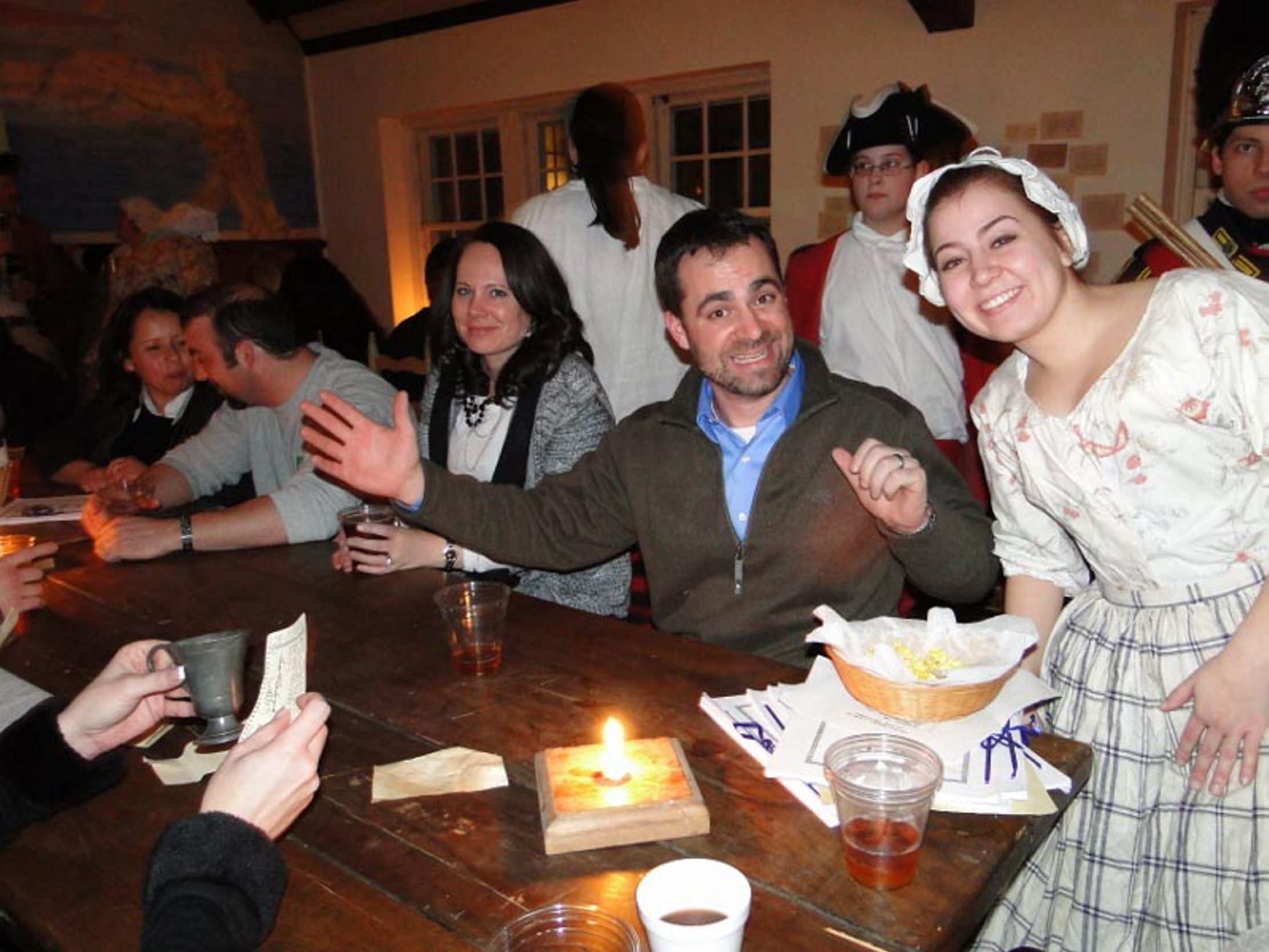 """This scene will be repeated at Old Fort Niagara's """"Tavern Nights."""""""