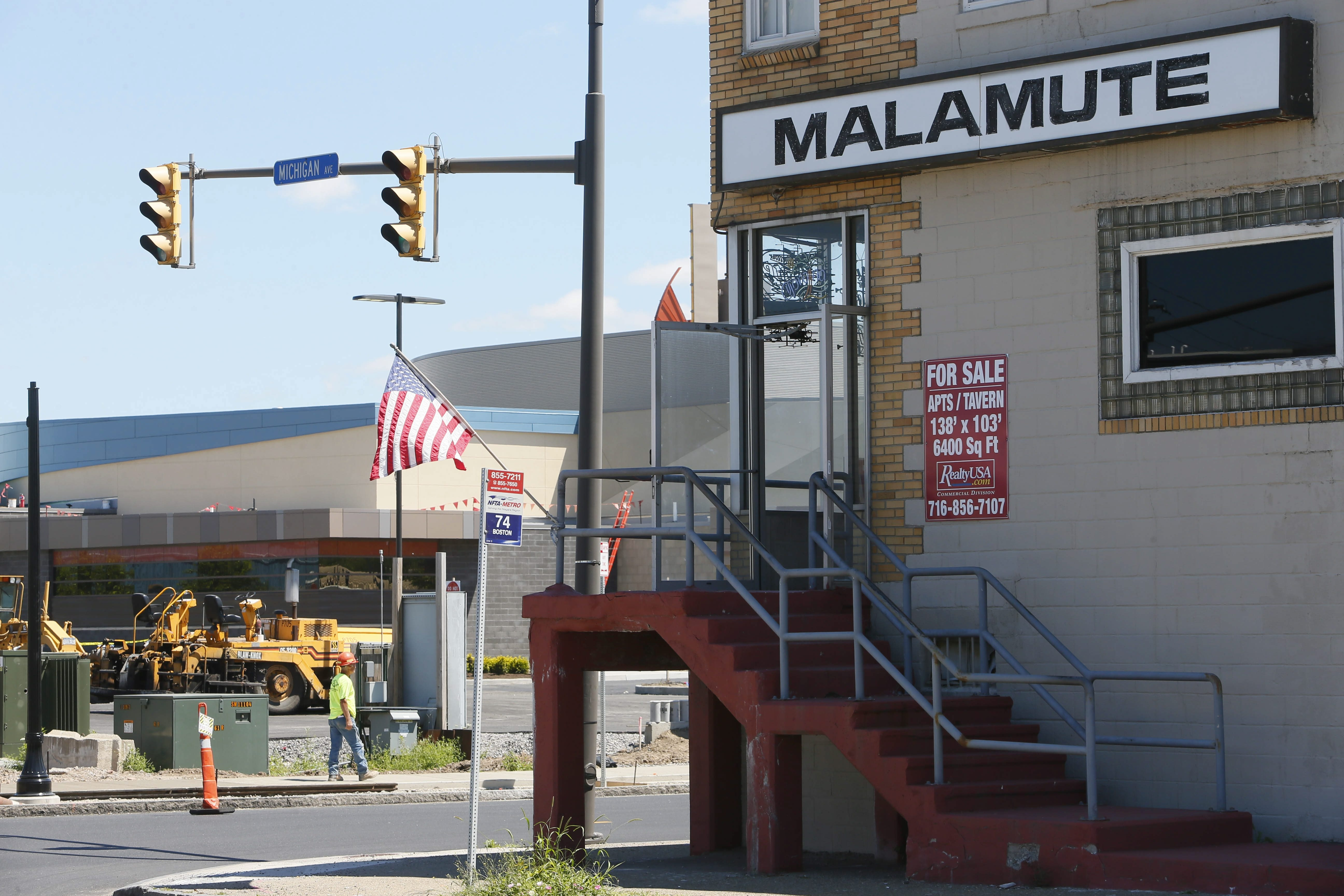 The Malamute tavern, a landmark on the corner of Michigan and South Park avenues, is located across the street from the Seneca Buffalo Creek Casino. The Malamute was sold last summer.