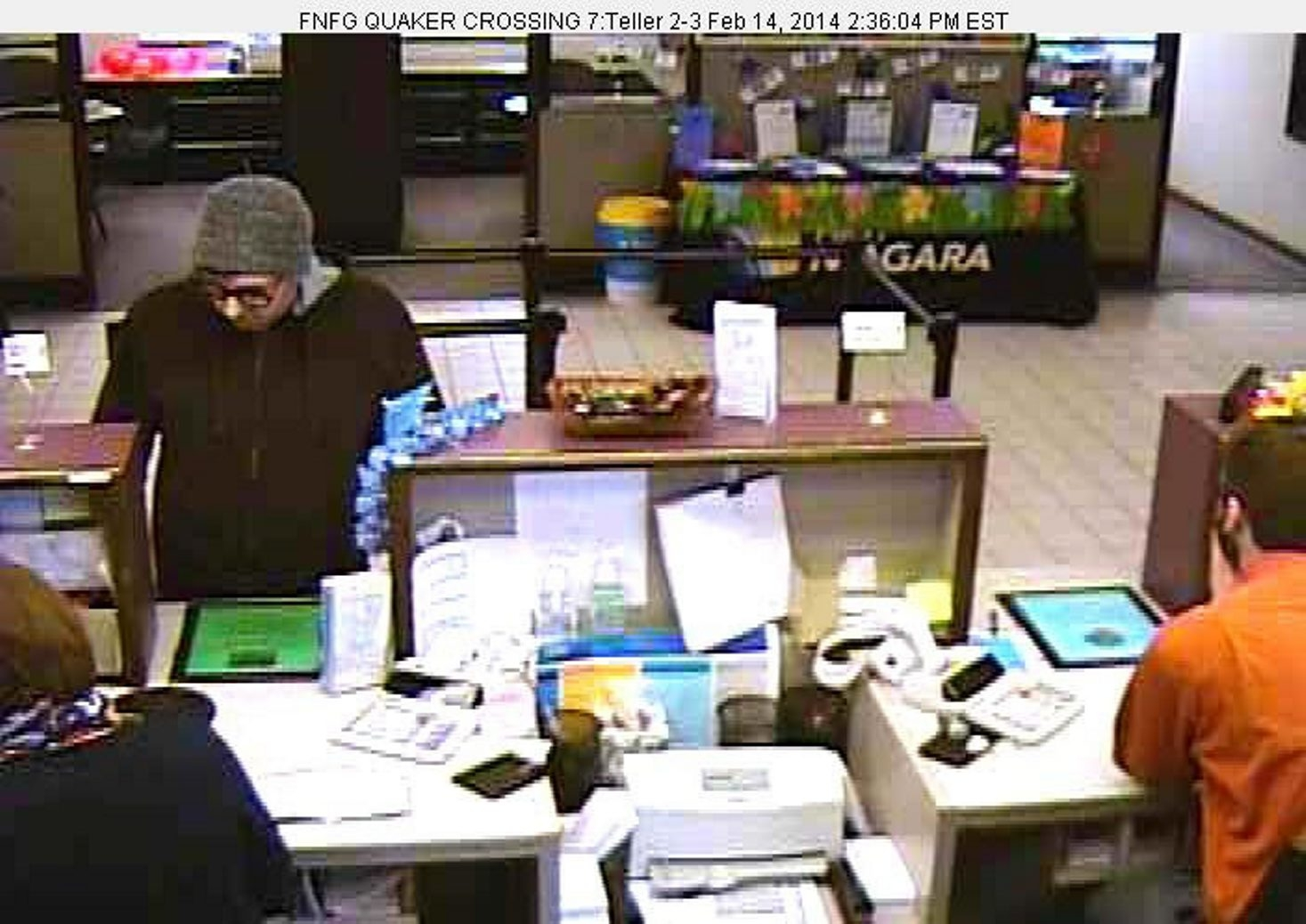 Orchard Park bank robbery.