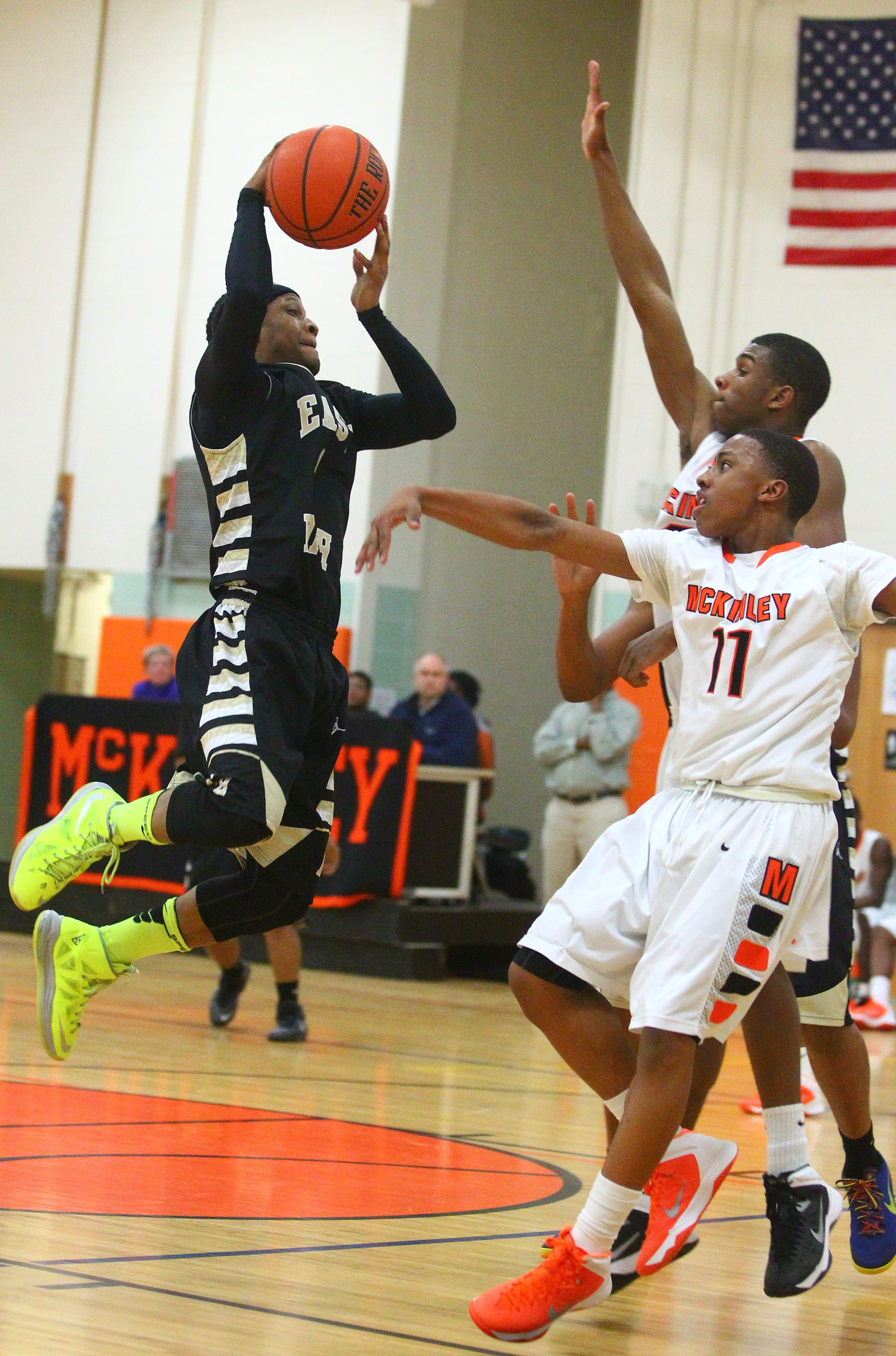East's Johnathan Lewis played extremely well in Thursday's win over McKinley.
