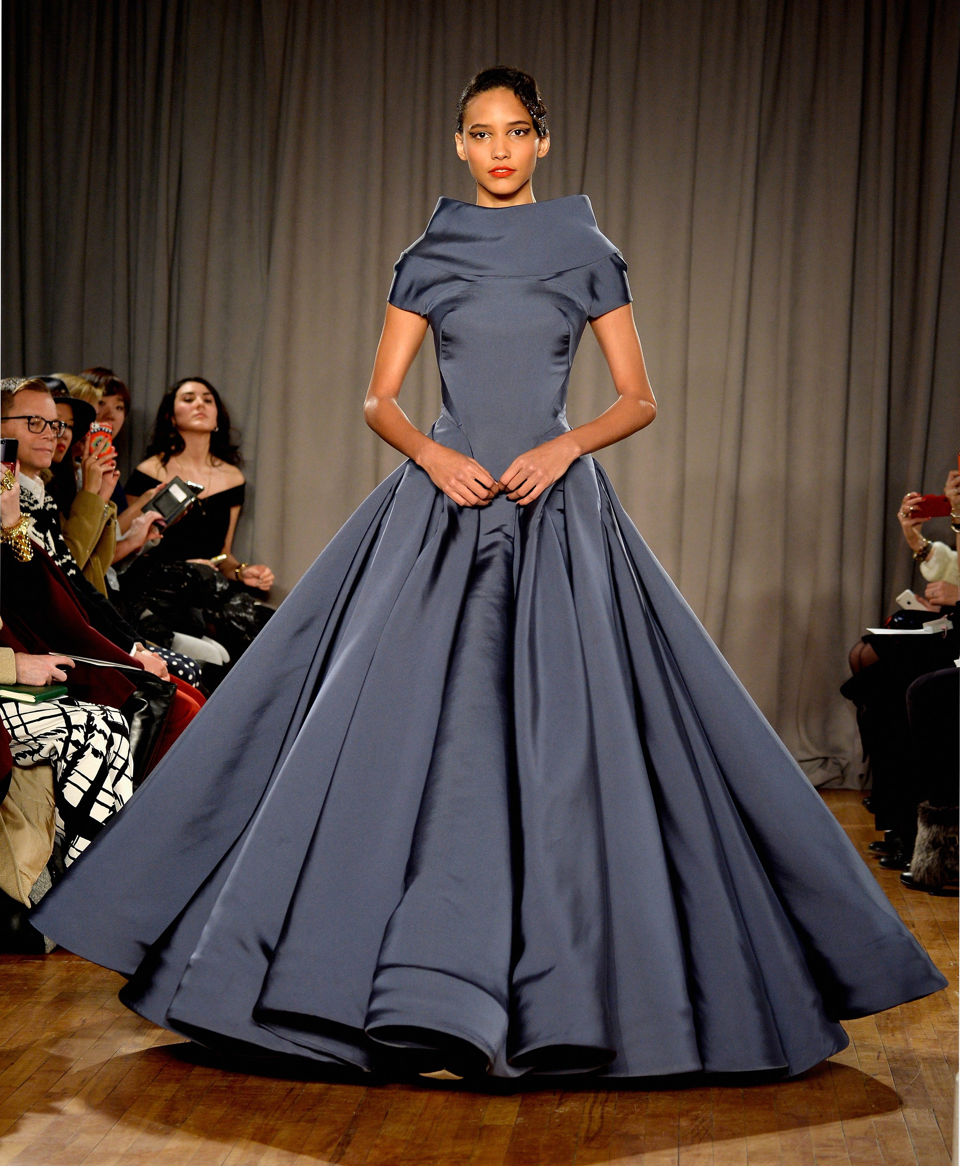 NEW YORK, NY – FEBRUARY 10:  Model Cora Emmanuel walks the runway at the Zac Posen fashion show during Mercedes-Benz Fashion Week Fall 2014 on February 10, 2014 in New York City. (Photo by Frazer Harrison/Getty Images for Mercedes-Benz)
