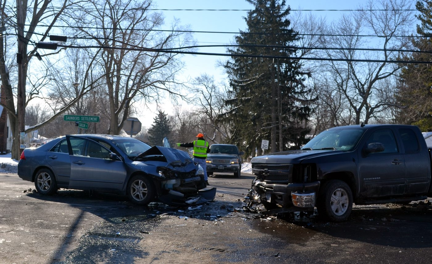 A woman in her 70s and a man in his 80s were injured in this crash on Saunders Settlement Road in Lewiston.