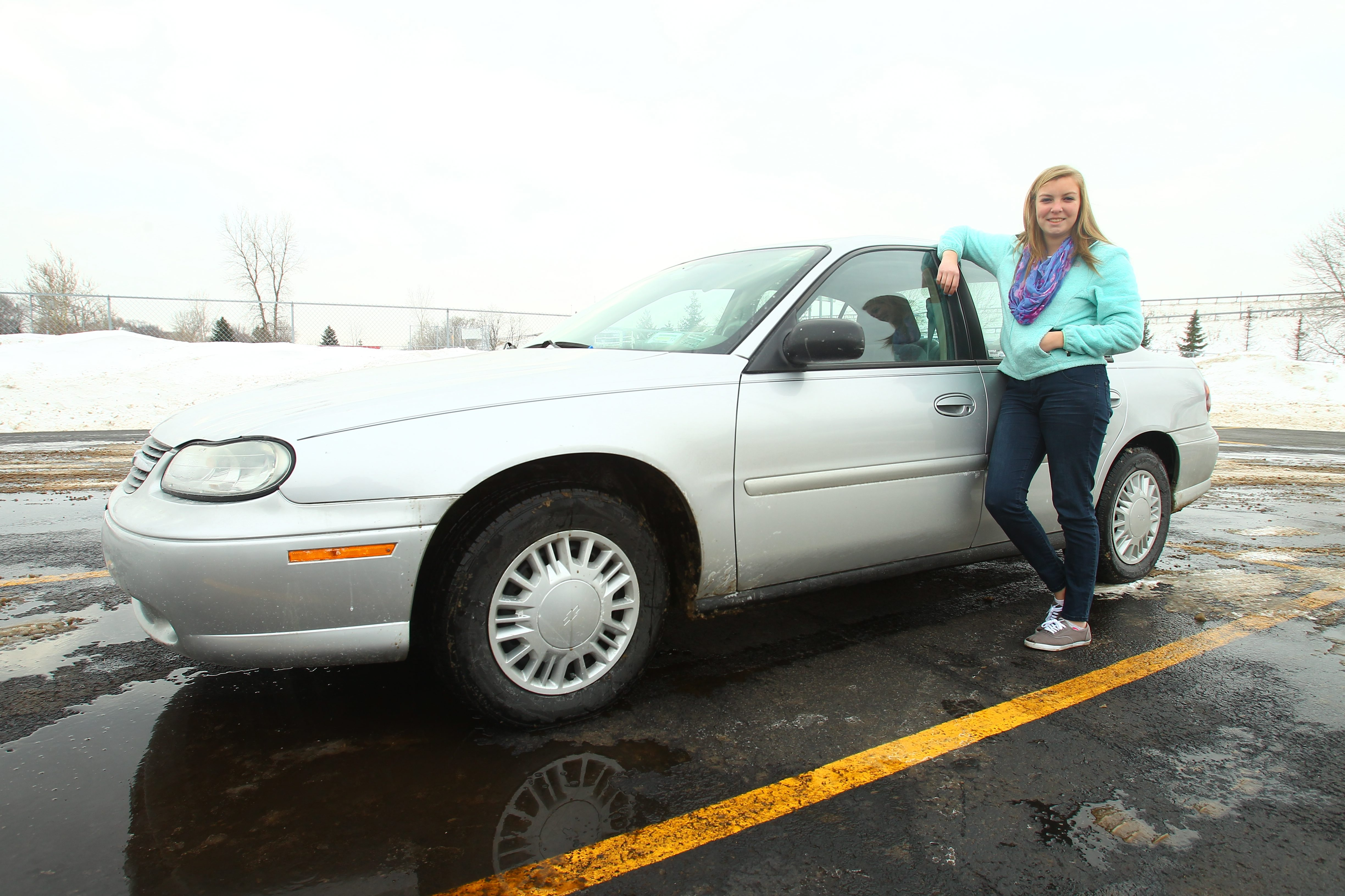 Aimee Misener, a senior at Niagara Catholic Junior Senior High School in Niagara Falls, owns a 2005 Chevrolet Malibu that was passed down from her mother.