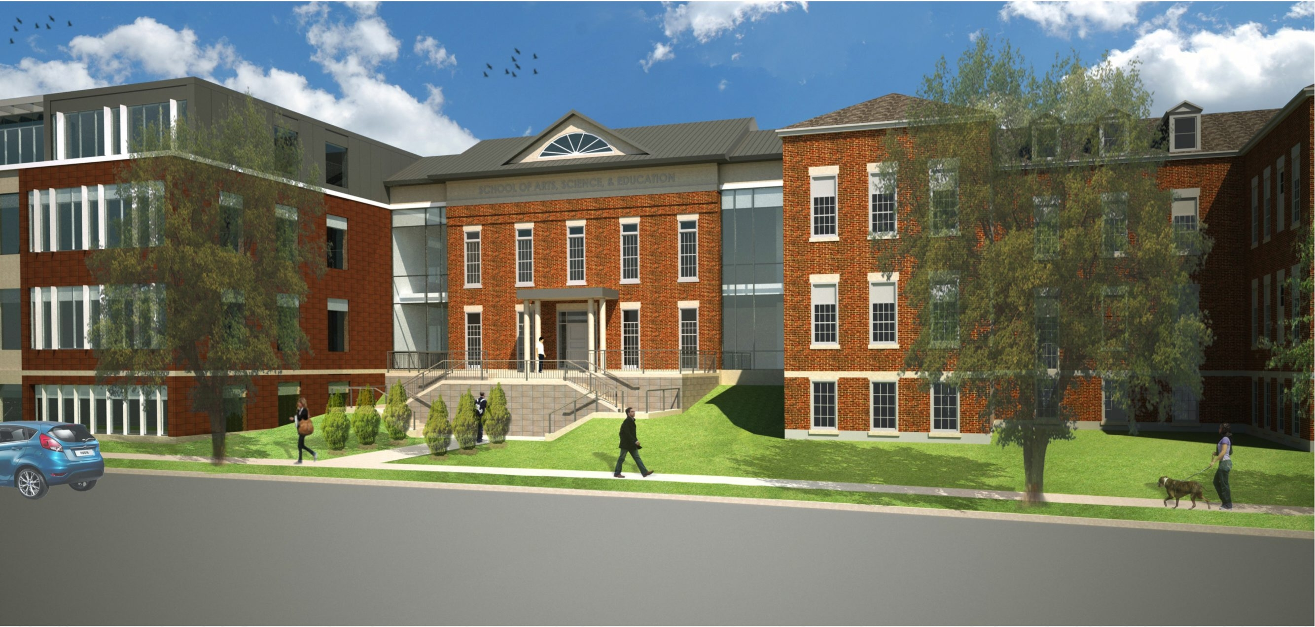 This rendering shows D'Youville College's future Art, Sciences and Education Building on Niagara Street. The project is expected to be completed in August 2015.