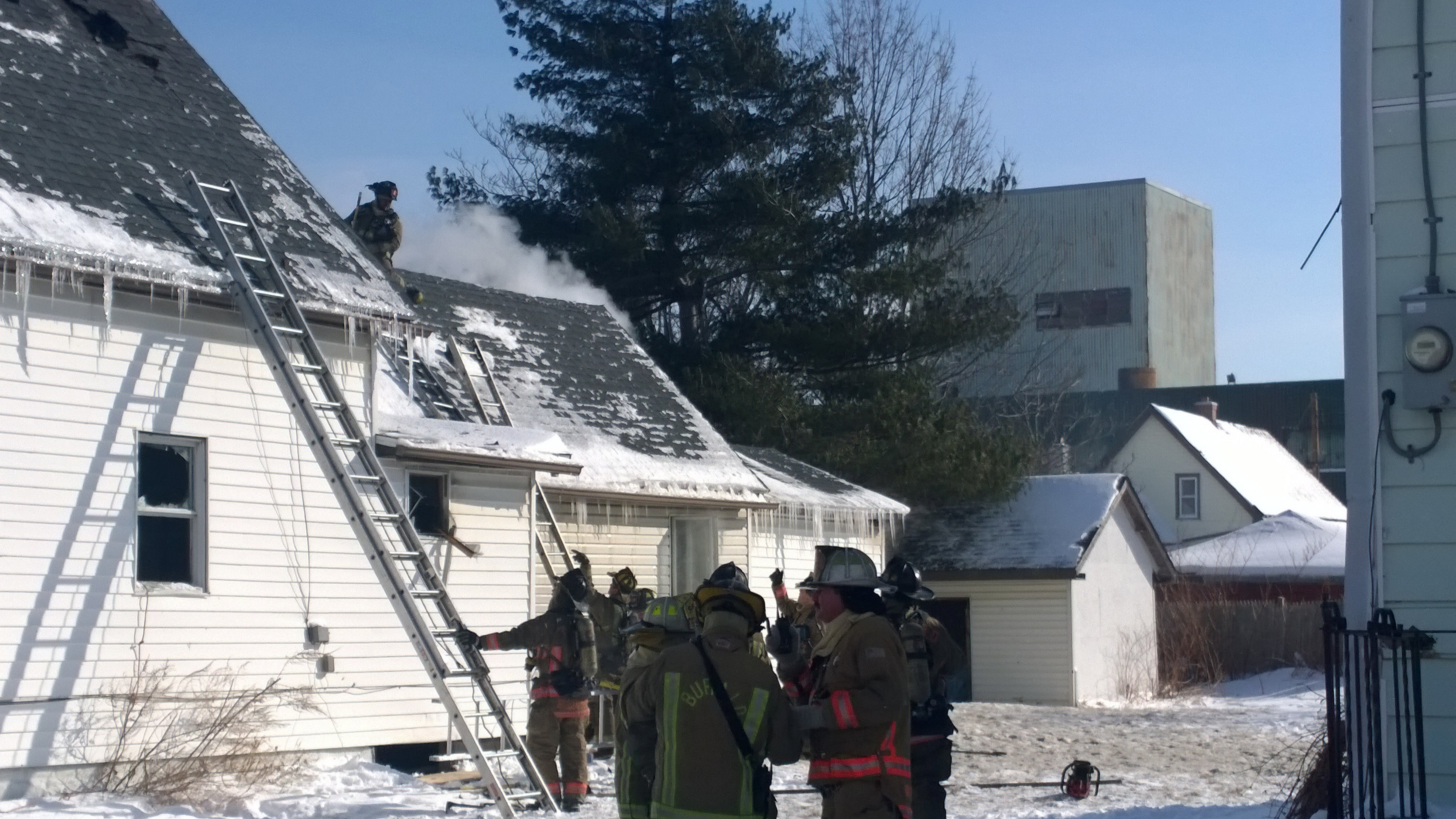 Firefighters were called out to quell a fire Friday at 215 Scoville Ave. in Buffalo's  Clinton-Bailey area. The fire was caused when a torpedo heater was used to thaw frozen pipes.