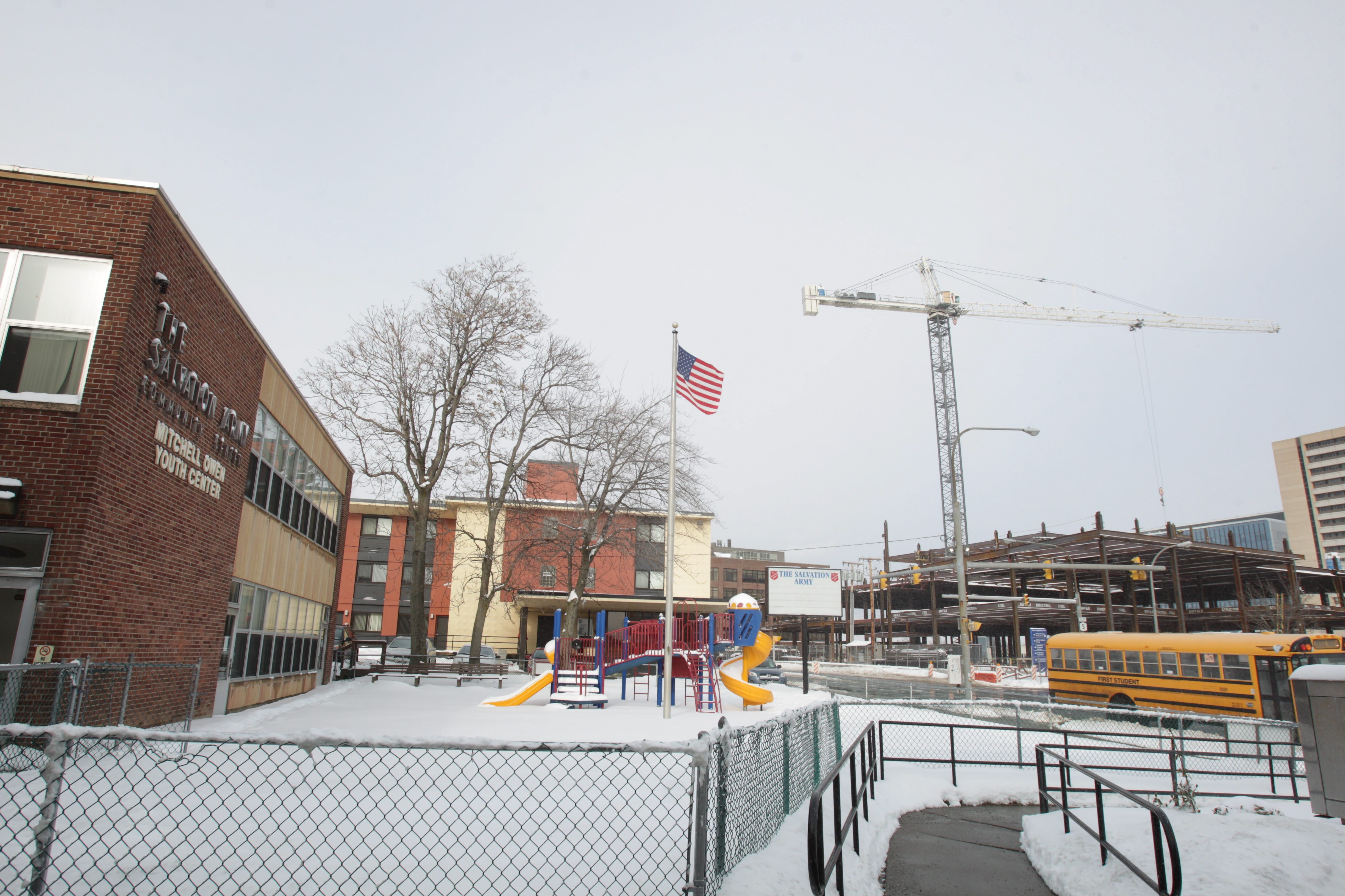 The Salvation Army at 960 Main St. is being sought by Ciminelli Real Estate Corp. for redevelopment related to the Buffalo Niagara Medical Campus. The building is across the street from medical campus construction.