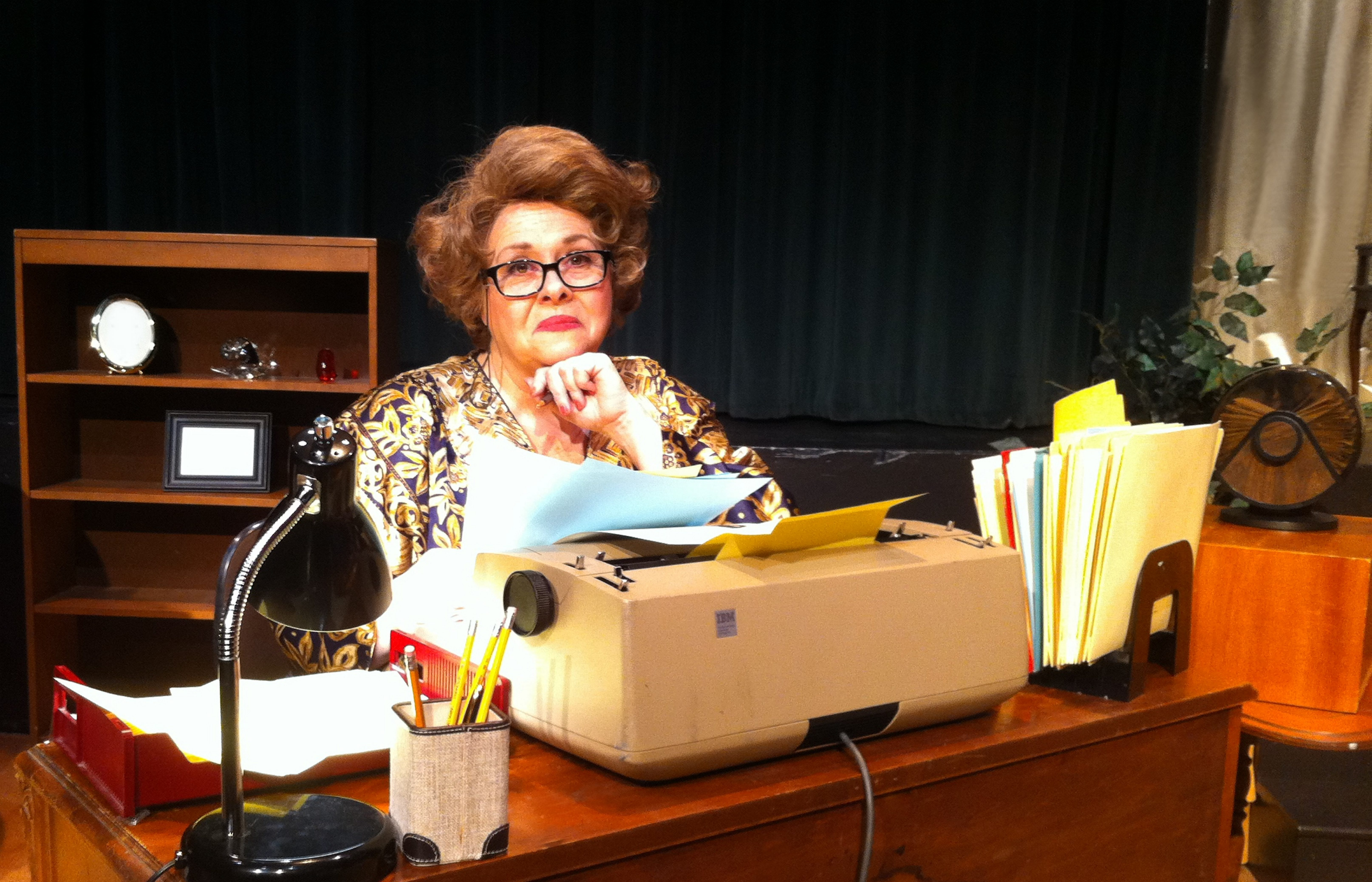 "Mary Kate O'Connell stars in the one-woman show ""The Lady With All the Answers,"" running through Feb. 23 in O'Connell and Company's theater at the Park School."