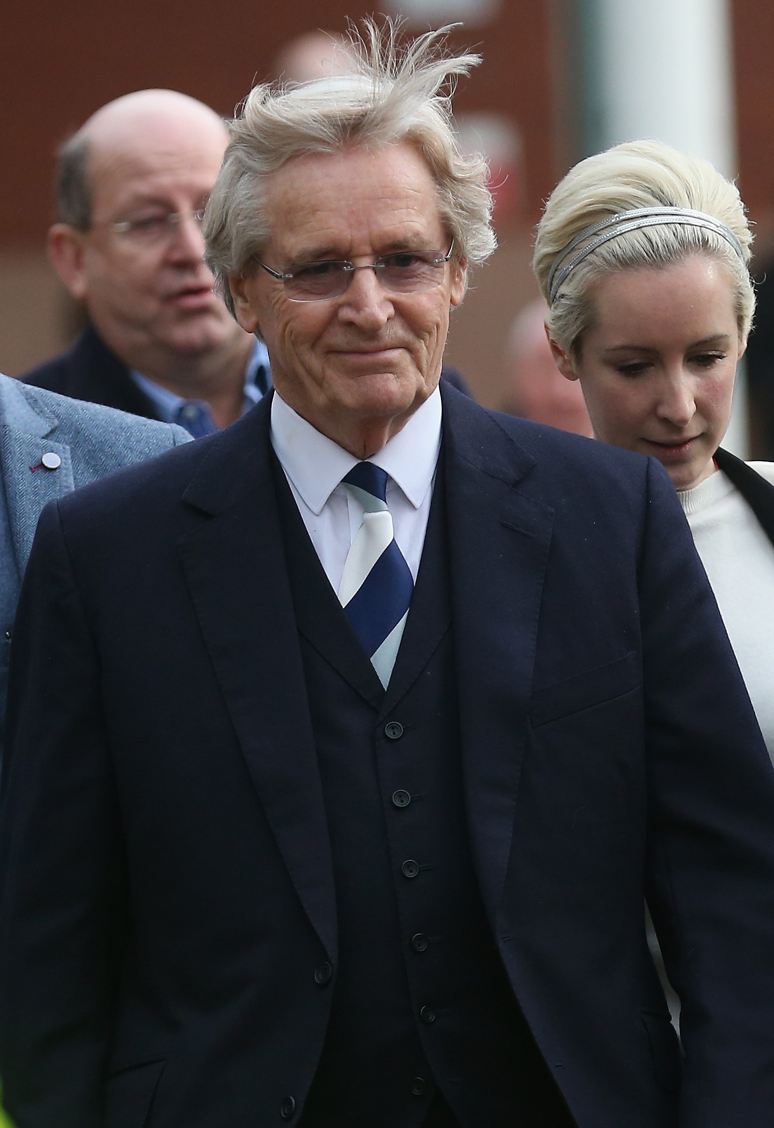 British actor William Roache leaves court Friday after being found innocent in sexual assault allegations.