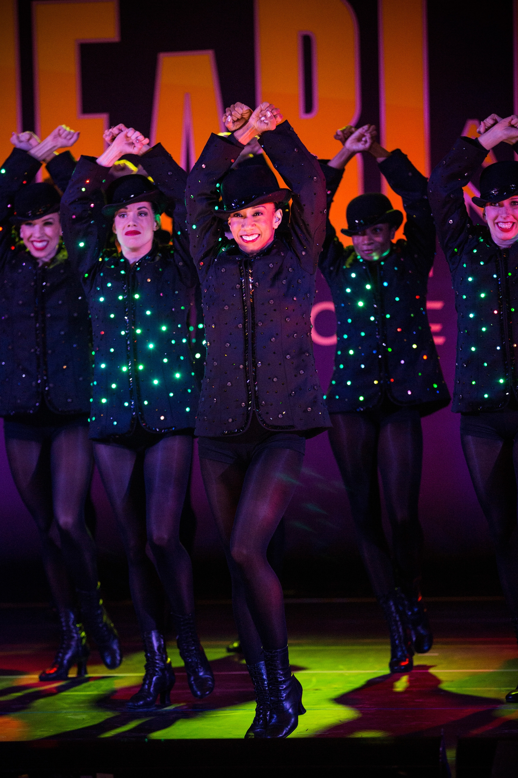 """The Radio City Rockettes perform Wednesday in Grand Central Station to preview their """"Hearts and Lights""""show."""