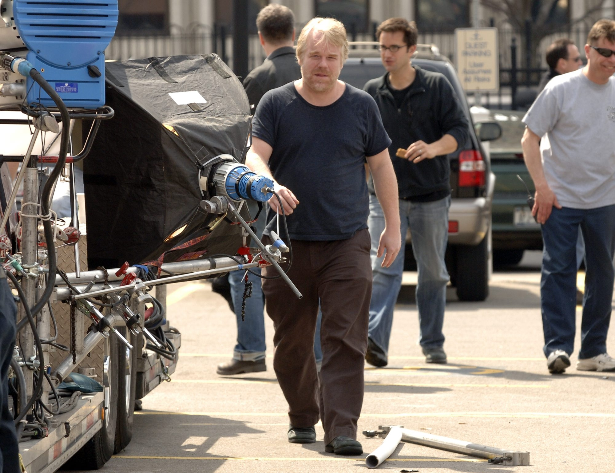 """Philip Seymour Hoffman came to Buffalo on March 31, 2006, for the filming of """"The Savages."""""""