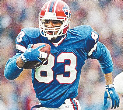 Andre Reed, after eight tries, was elected into the Pro Football Hall of Fame today.