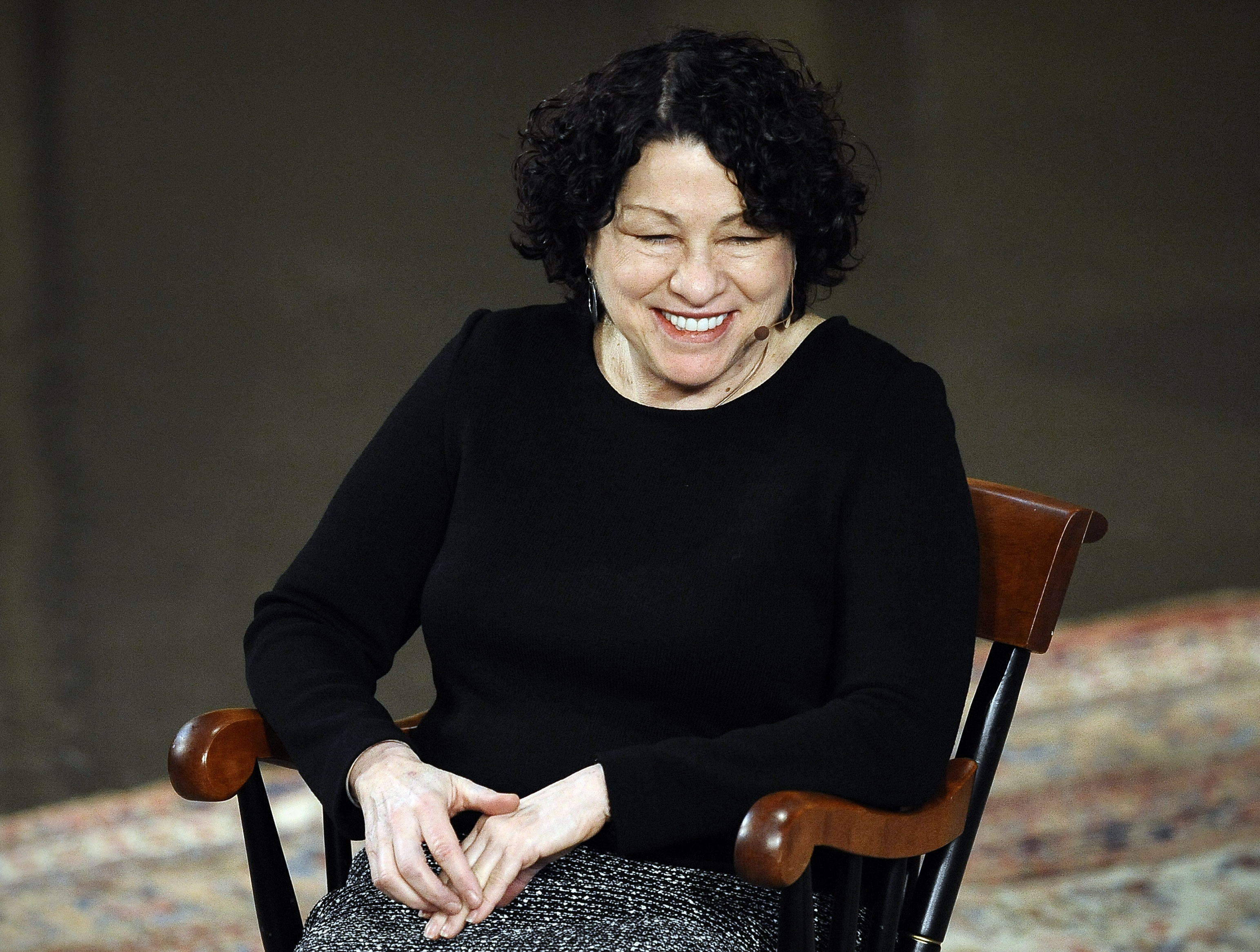 Supreme Court Justice Sonia Sotomayor was at Yale University, in New Haven, Conn., on Monday, talking to students about her life.