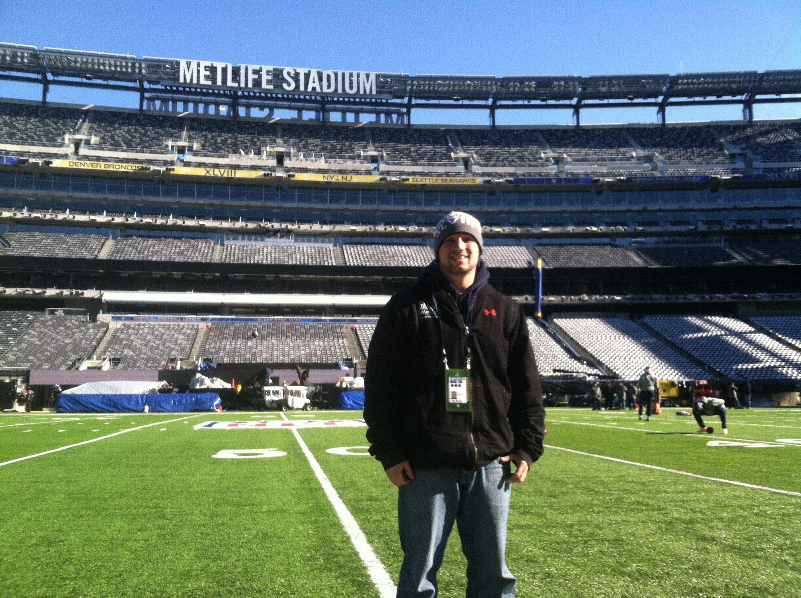 Steve Sansonese is hoping to avoid snow at MetLife field in New Jersey for tonight's game.