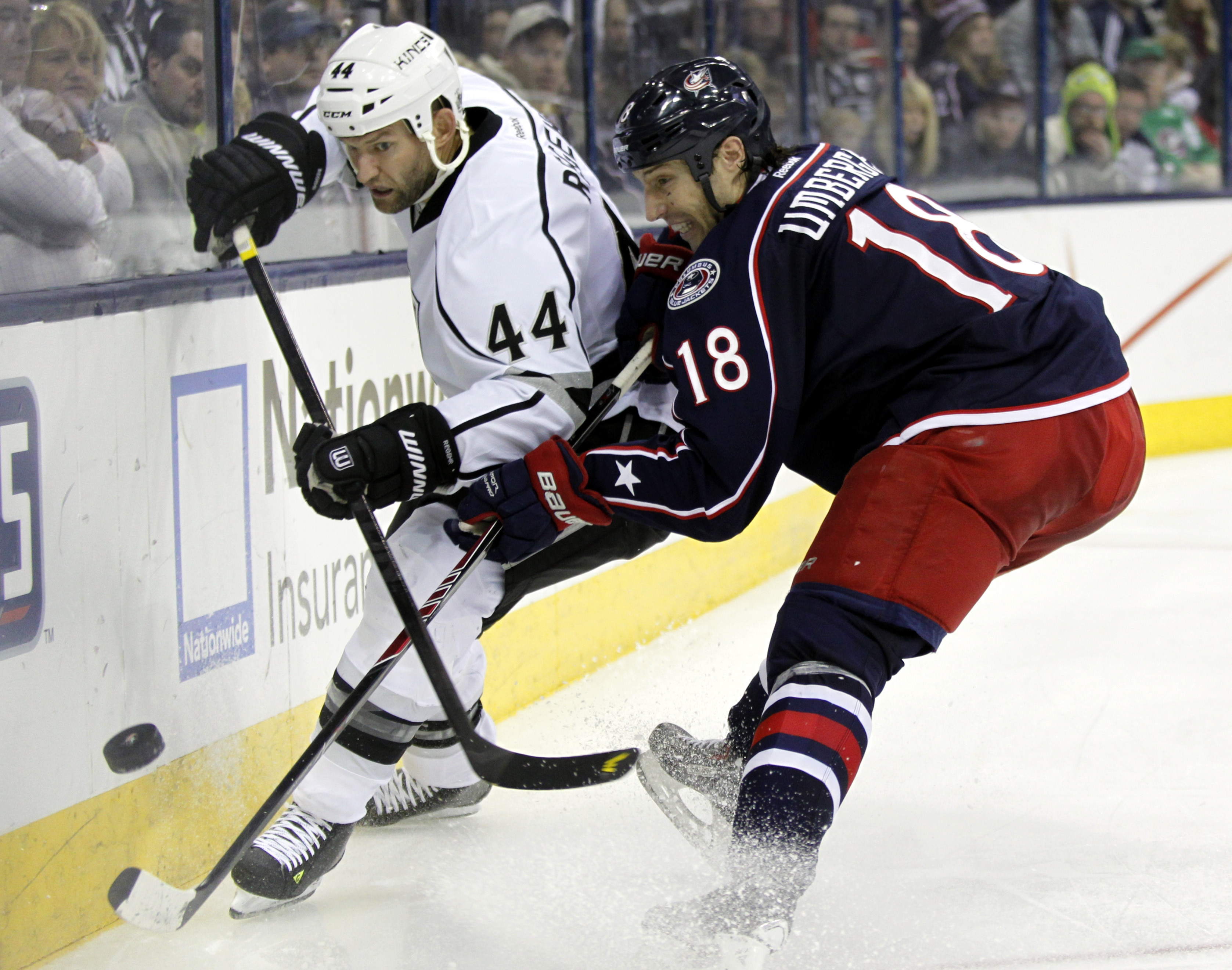 Ex Sabre Robyn Regehr (44) has been a workhorse on the blue line for the Los Angeles Kings.