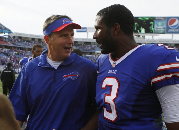 Coach Doug Marrone wants to reassure Bills fans who are concerned about whether EJ Manuel is injury-prone. (Mark Mulville/Buffalo News file photo)