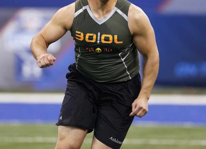 Former Texas A&M offensive lineman Jake Matthews is about as safe a pick as there is in the 2014 NFL draft. (Getty Images)