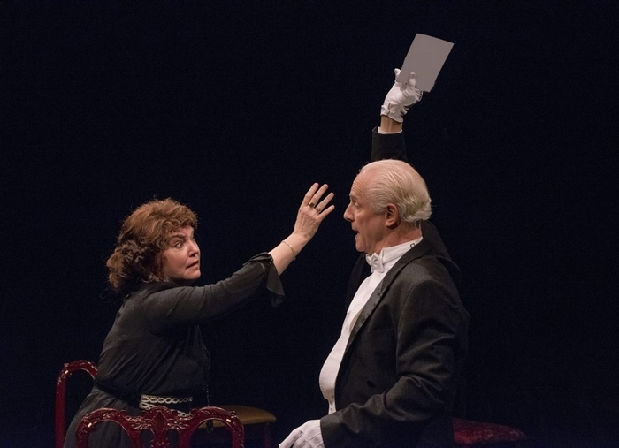 """Eileen Dugan and Vincent O'Neill star in the Irish Classical Theatre Company's production of """"A Woman of No Importance,"""" on stage through Feb. 9."""