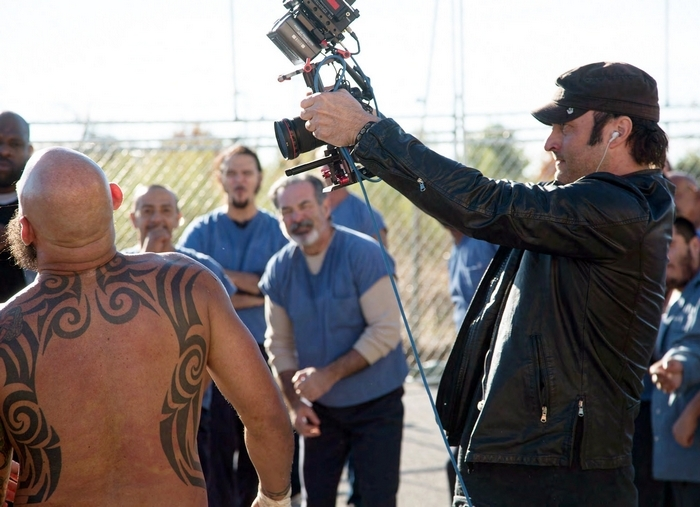 """Robert Rodriguez, on the set of """"From Dawn till Dusk: The Series,"""" which premieres on the new cable network El Rey Network tonight. (Associated Press)"""