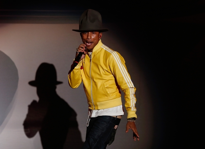 Pharrell Williams offers an insanely catch bit of musical nonsense in his first solo album in eight years. (Getty Images)