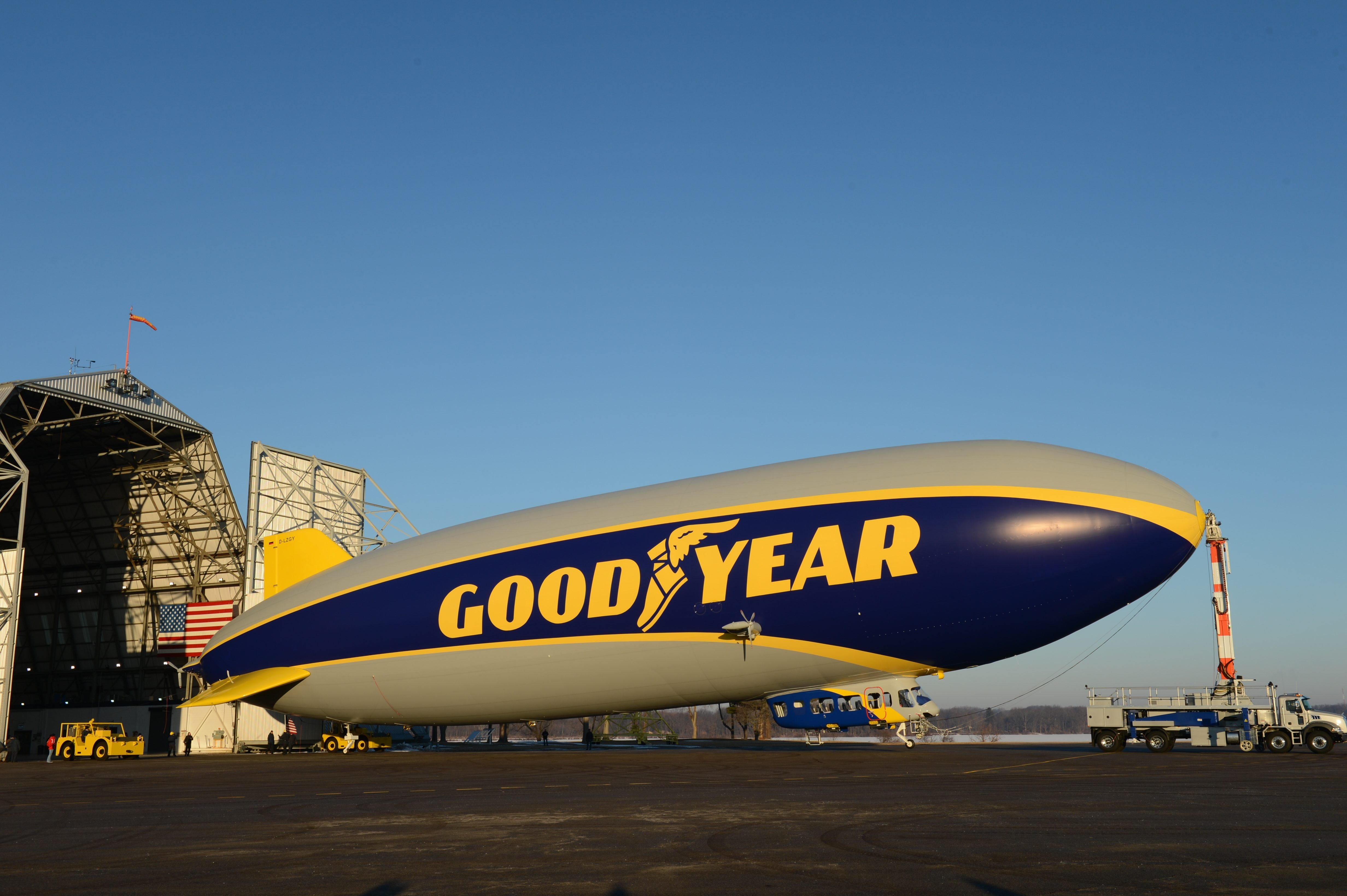 The new Goodyear blimp is covered with a  material made at the DuPont Yerkes plant in the Town of Tonawanda.