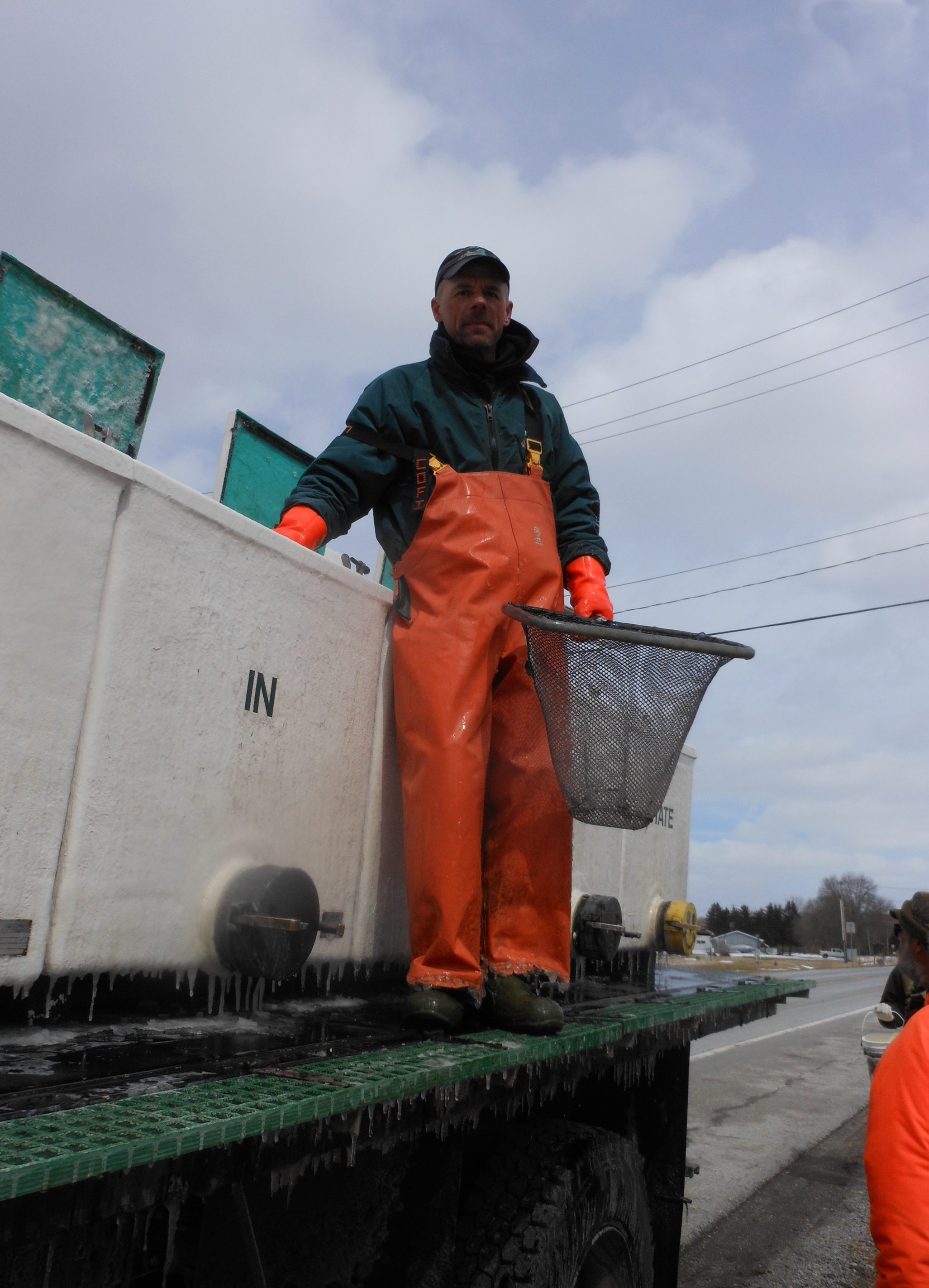 Barry Hohmann, hatchery fish culturist, is seeing good net results for stocking trout species in area streams before the Tuesday opening of the inland trout season.