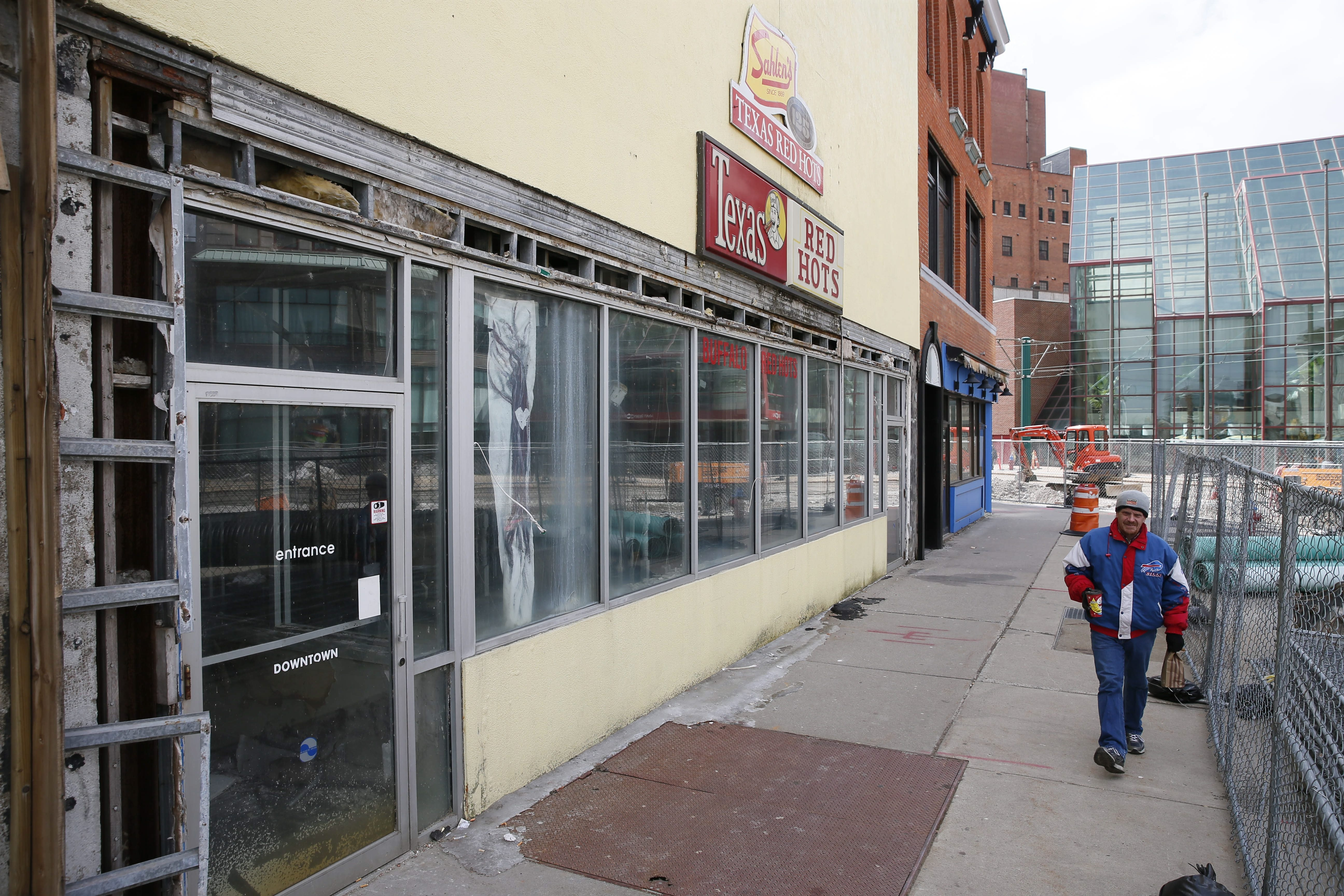 This stretch of buildings on Genesee Street will be restored to its mid-19th century look thanks to a project by architect Steven J. Carmina.