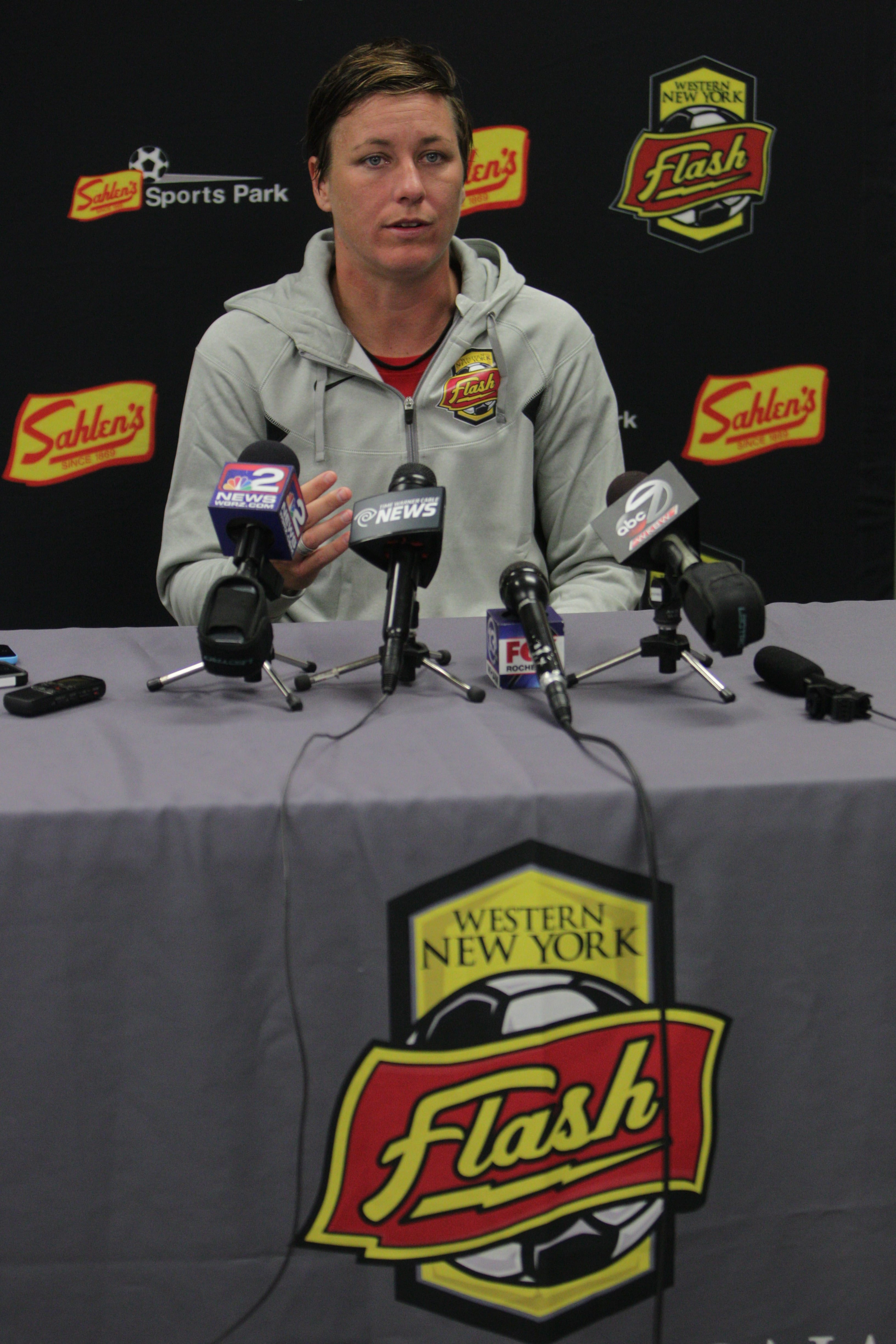 Abby Wambach says loyalty played a big part in her returning to the Western New York Flash for 2014.