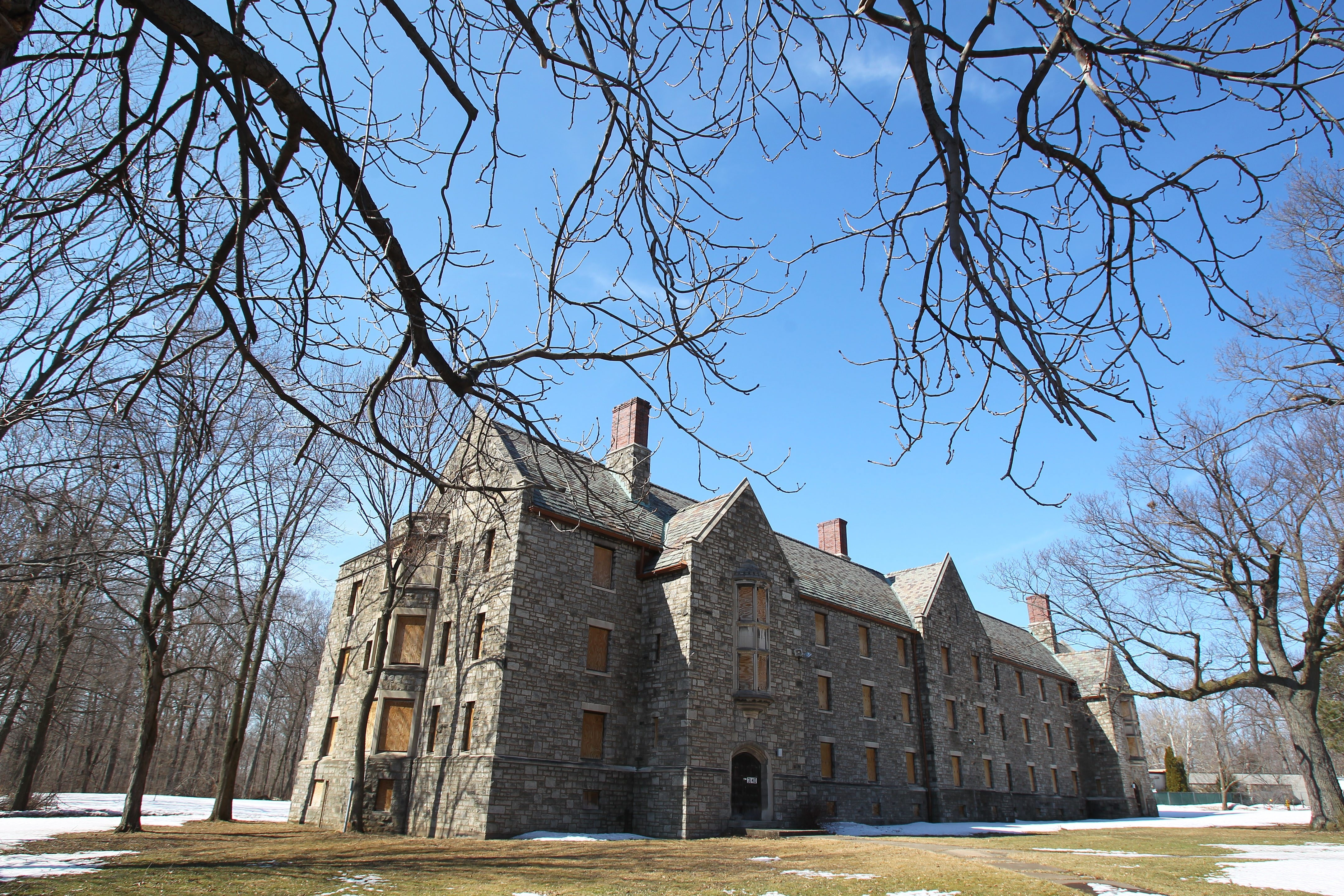 The Schoellkopf school building in DeVeaux Woods could have a future as a boutique hotel, state officials say.