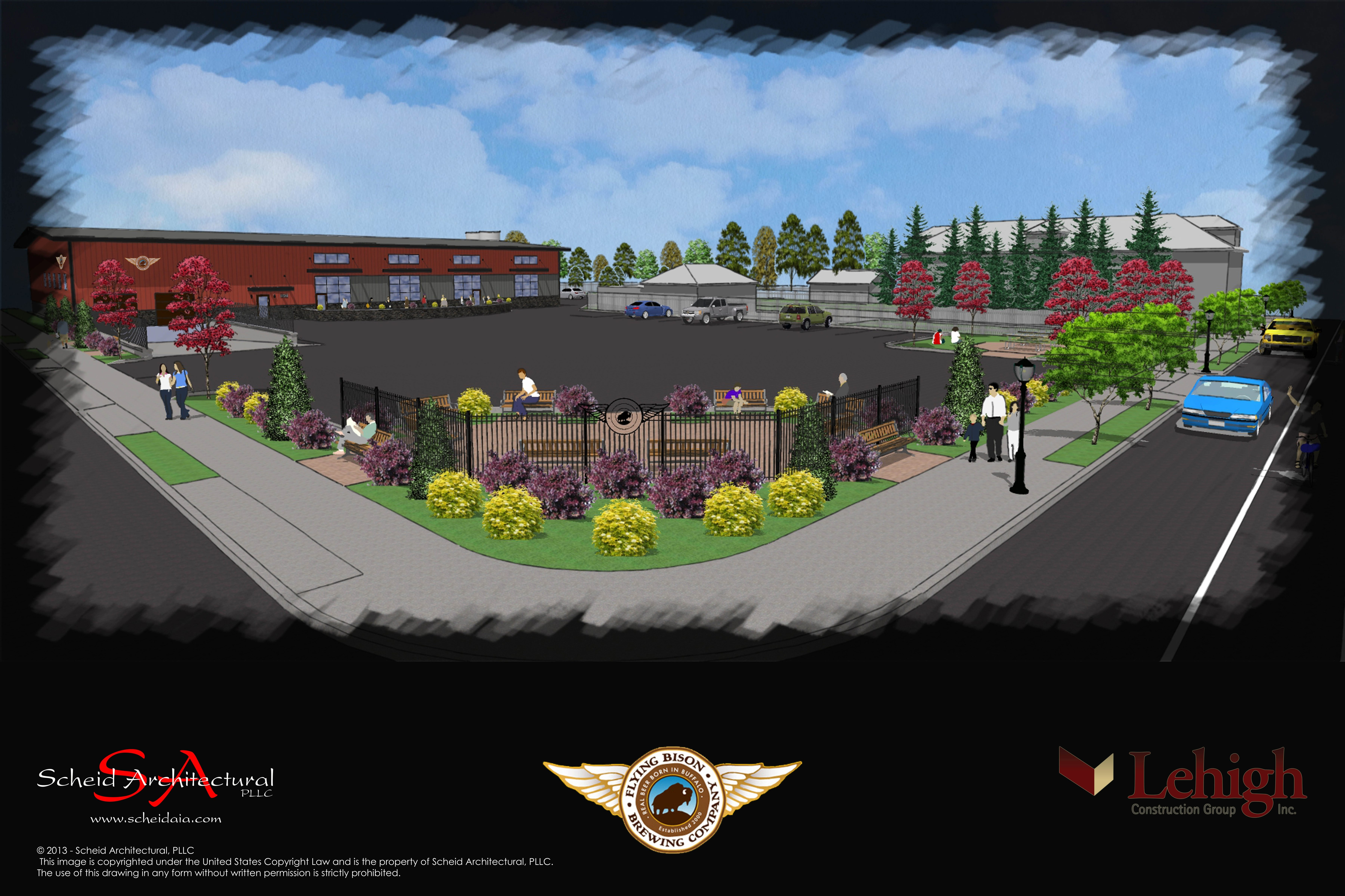 A rendering of the proposed 840 Seneca St. facility.