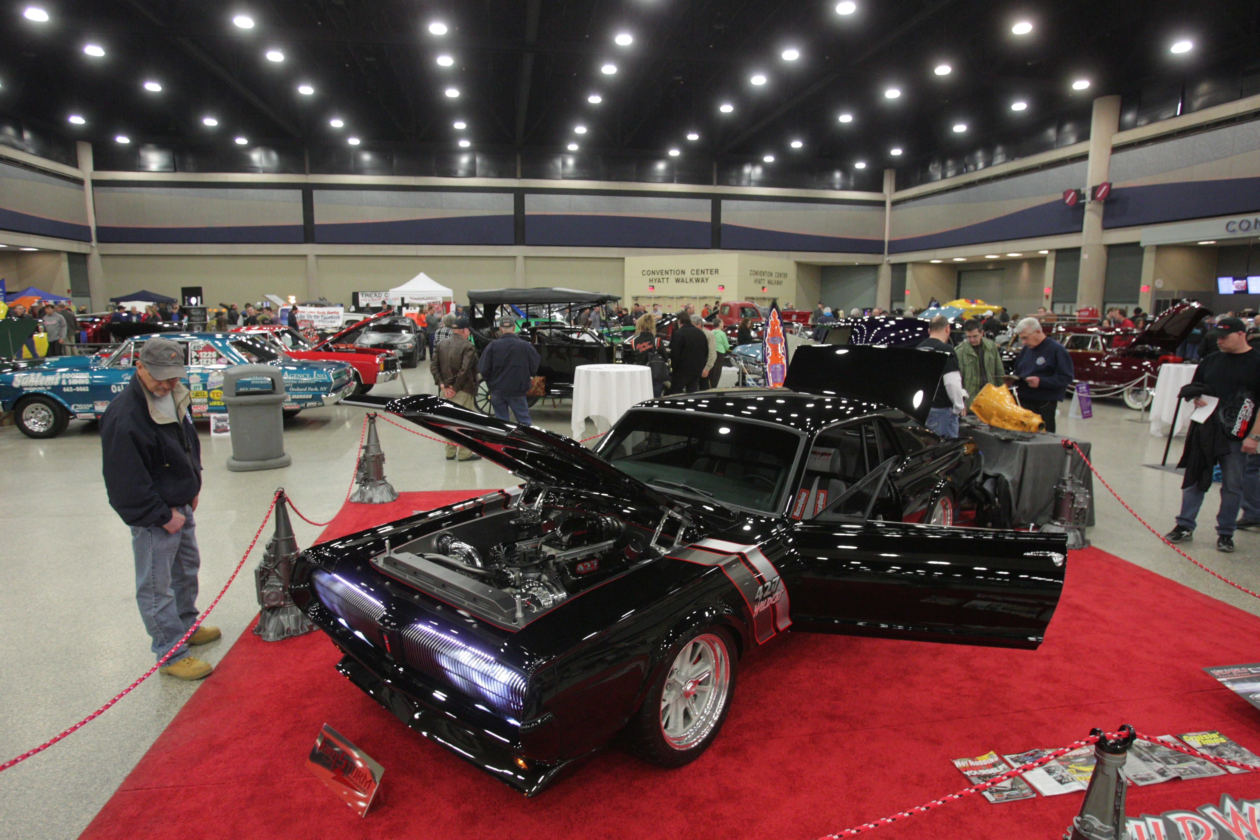 A 1967 Mercury Cougar, owned by Wes Adkins of Dover, Ohio, is one of the cars displayed at the 2014 Buffalo Motorama at the Buffalo Niagara Convention Center Saturday. Classic cars from almost every era are on display through today.