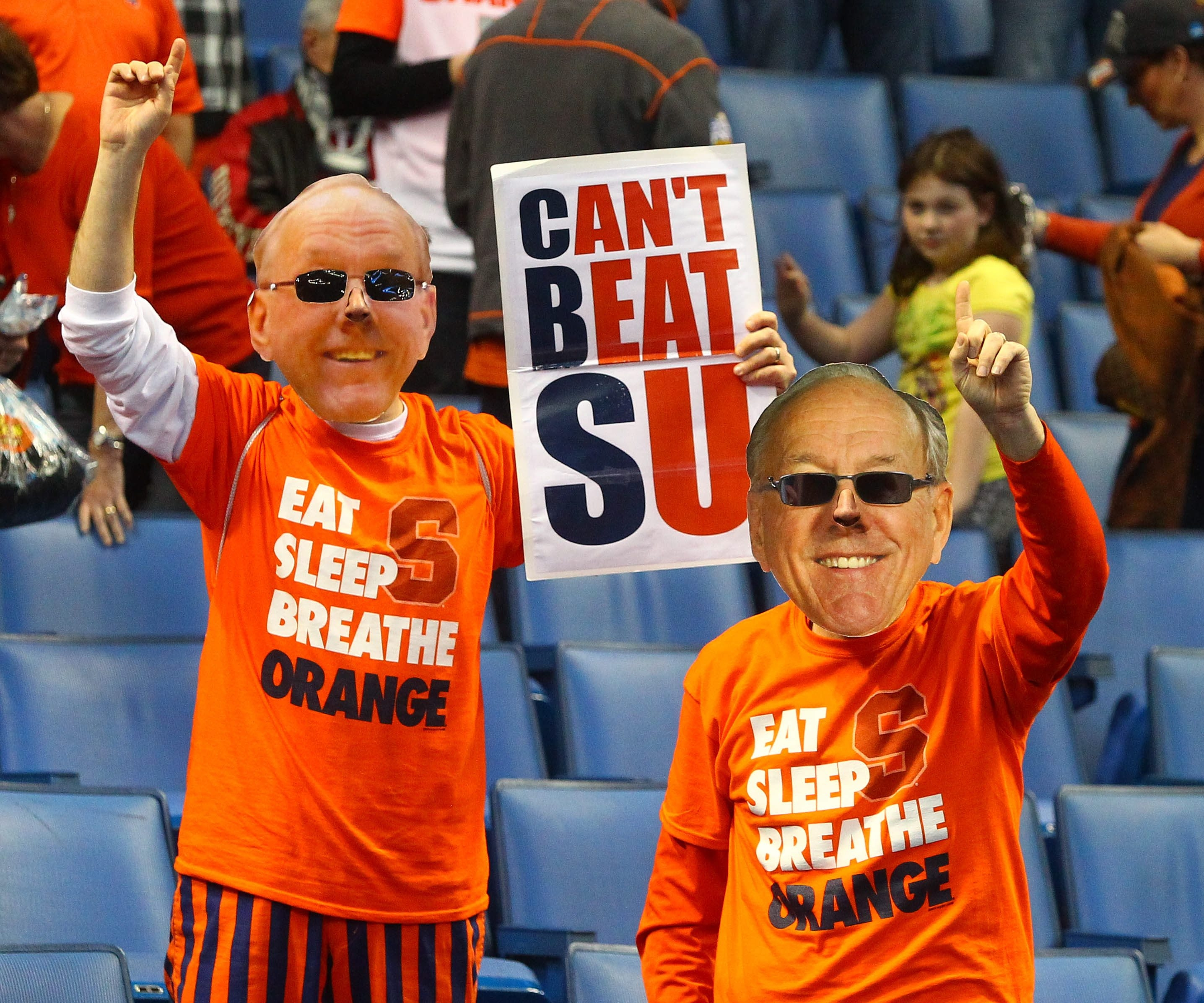 Syracuse fans celebrate the 77-53 victory over Western Michigan at First Niagara Center, Thursday,March 20, 2014.  (John Hickey/Buffalo News)