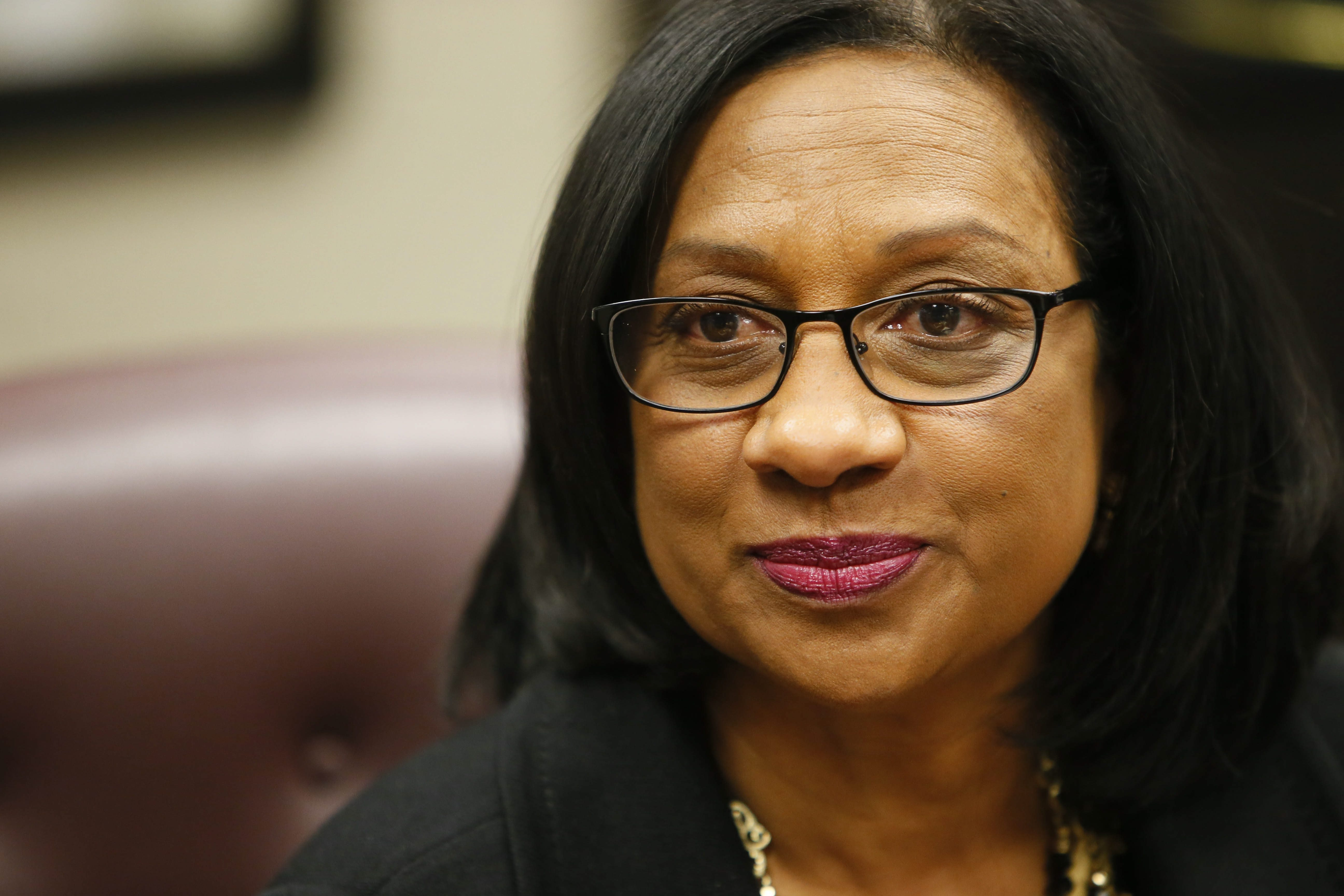 """Buffalo Public Schools Superintendent Pamela Brown tells group at Waterfront school she was eager """"to clear up any of those misconceptions and tell you more about me."""" (Derek Gee/Buffalo News file photo)"""