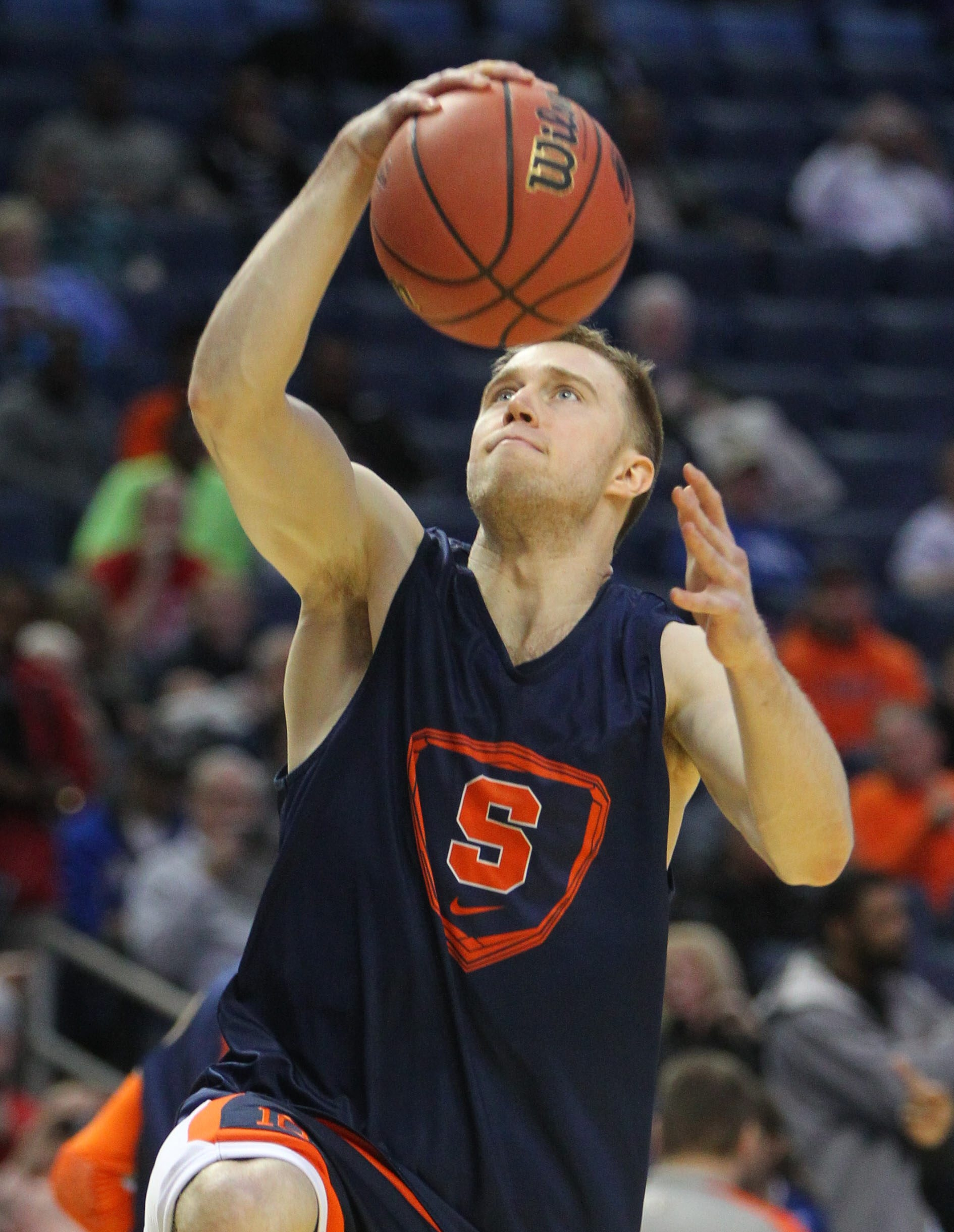 Syracuse's Trevor Cooney led the Atlantic Coast Conference in three-point field goals made this season, at almost three per game.