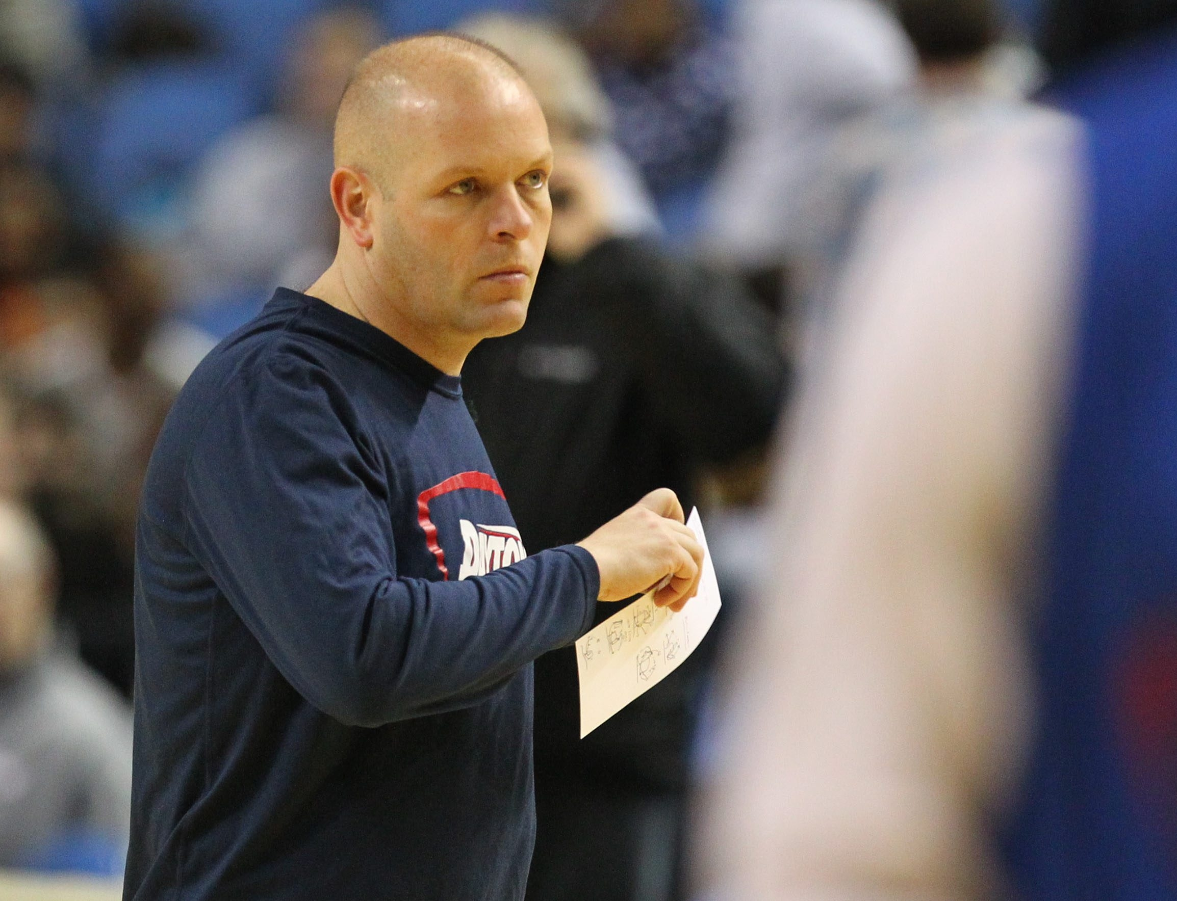 Assistant coach Kevin Kuwik and Dayton open against Ohio State today.