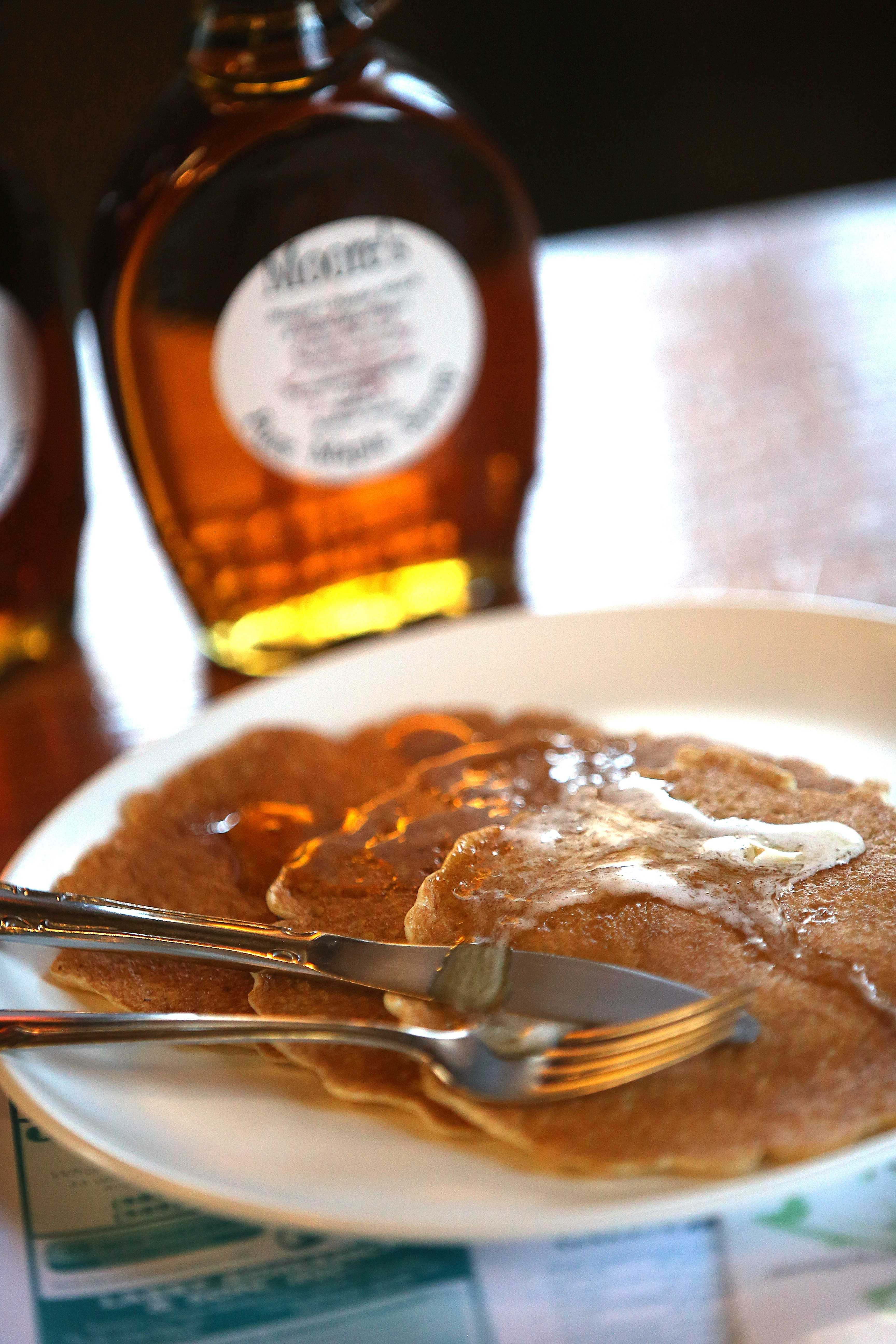 It takes about 1,600 gallons of sap to make 35 to 40 gallons of syrup, said farmer Earl Moore.