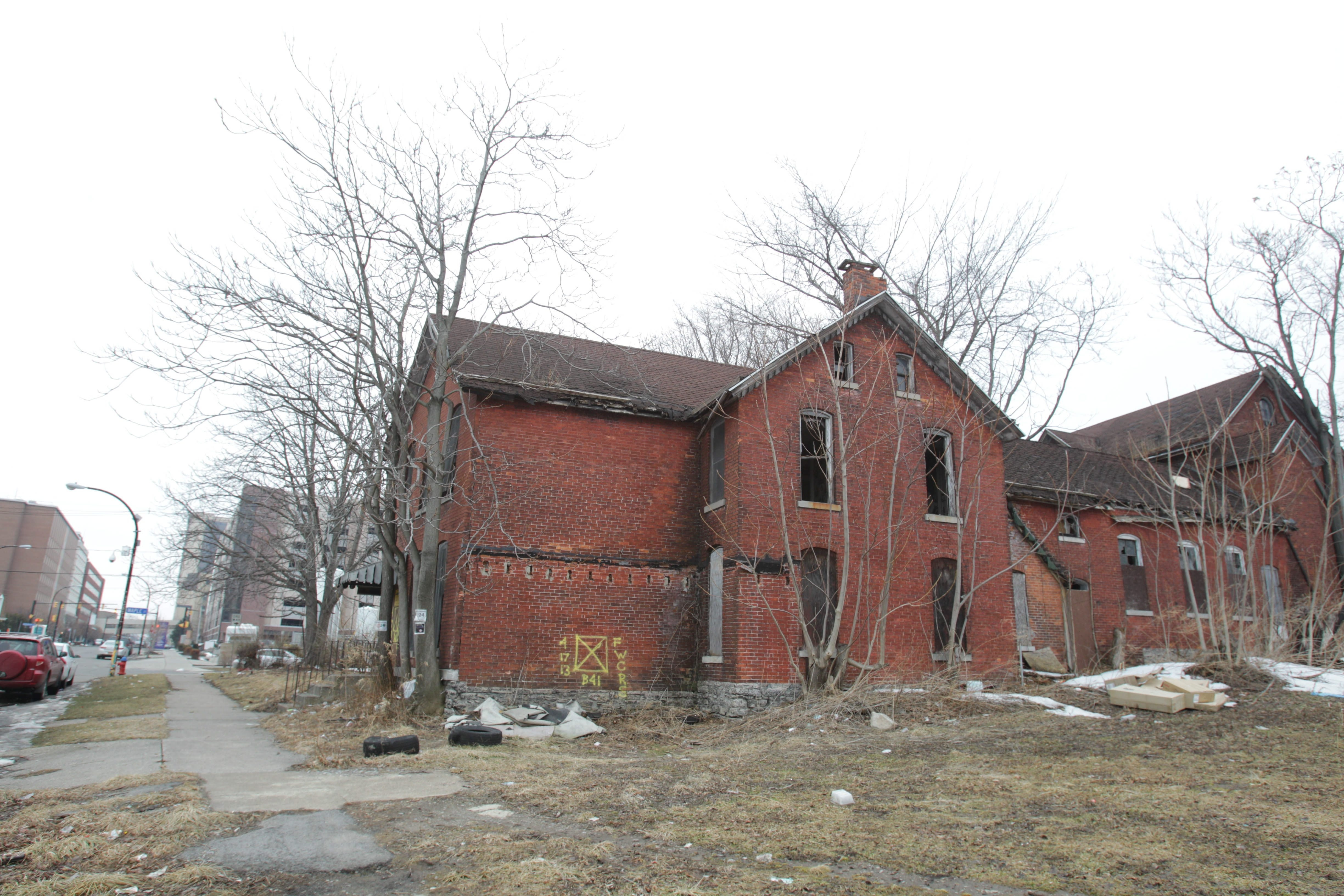 This brick building at 190 High St., built in 1865, will need to be demolished in order to build the Sweet Pea Market.