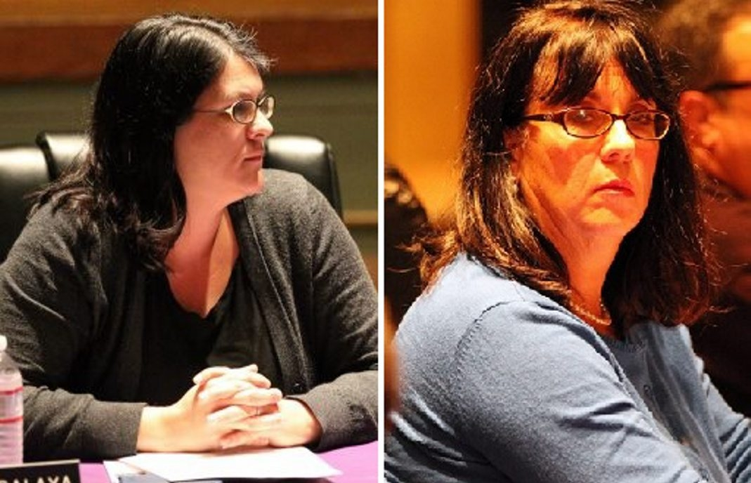 State Education Commissioner John B. King Jr. has rejected a petition to remove Hamburg School Board members Holly Balaya, left, and Sally Stephenson.