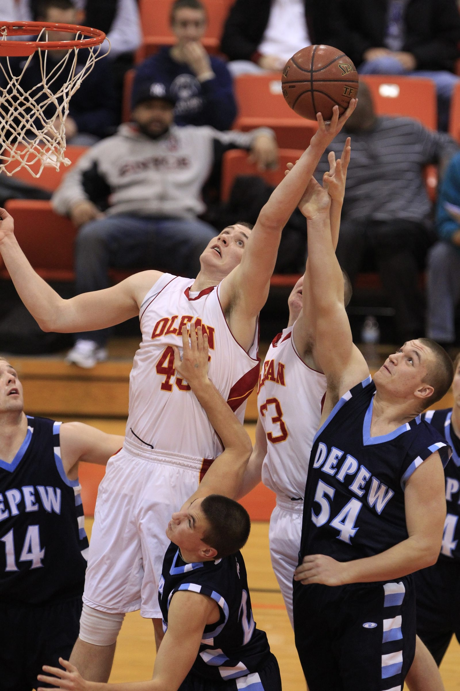 Sam Eckstrom (45) and Chucky Martin are two key players for Olean, the three-time reigning Section VI champion.