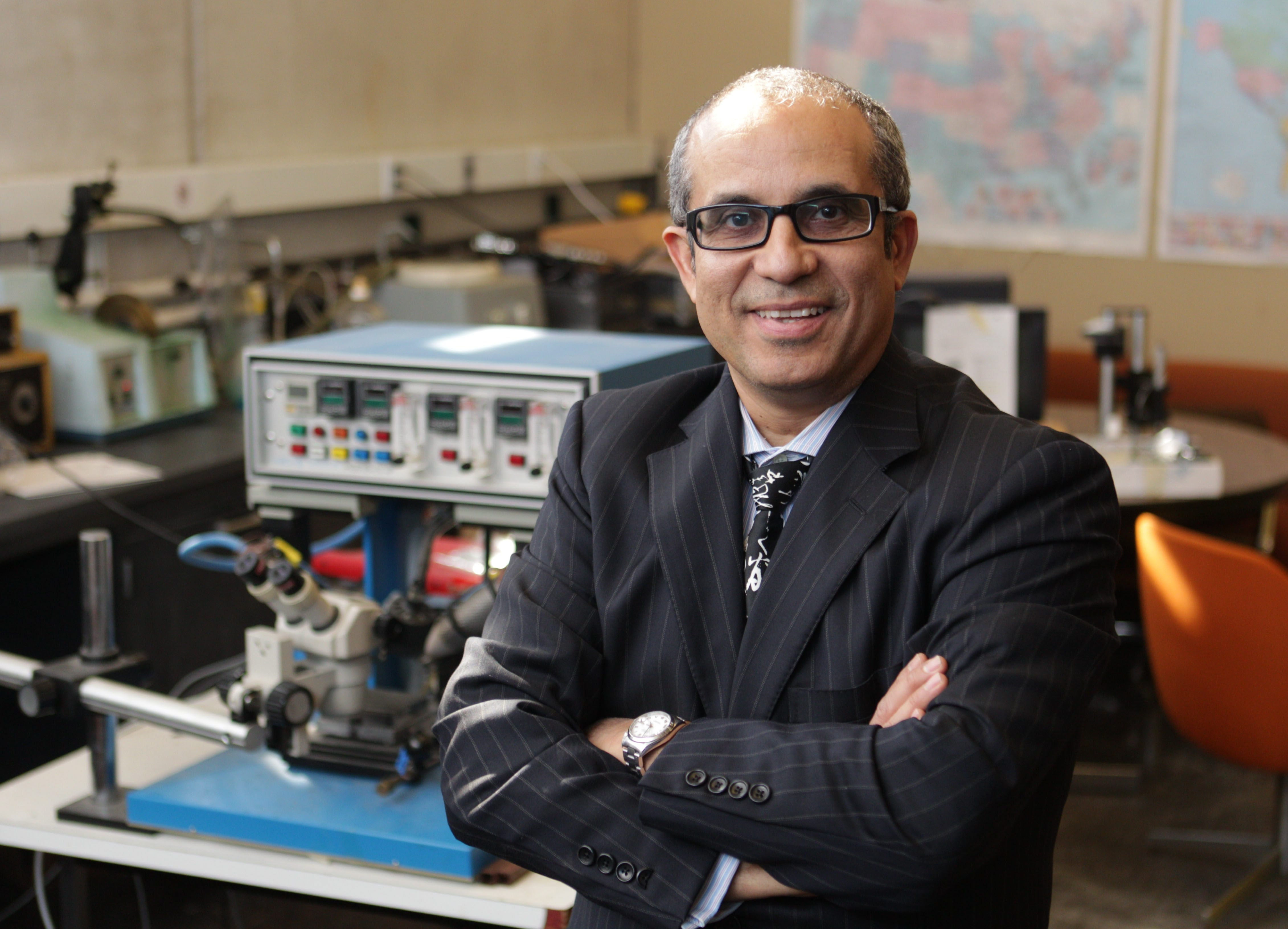 Cemal Basaran, director of the Electronics Packaging Laboratory at UB, sees metals being replaced for electrical uses.