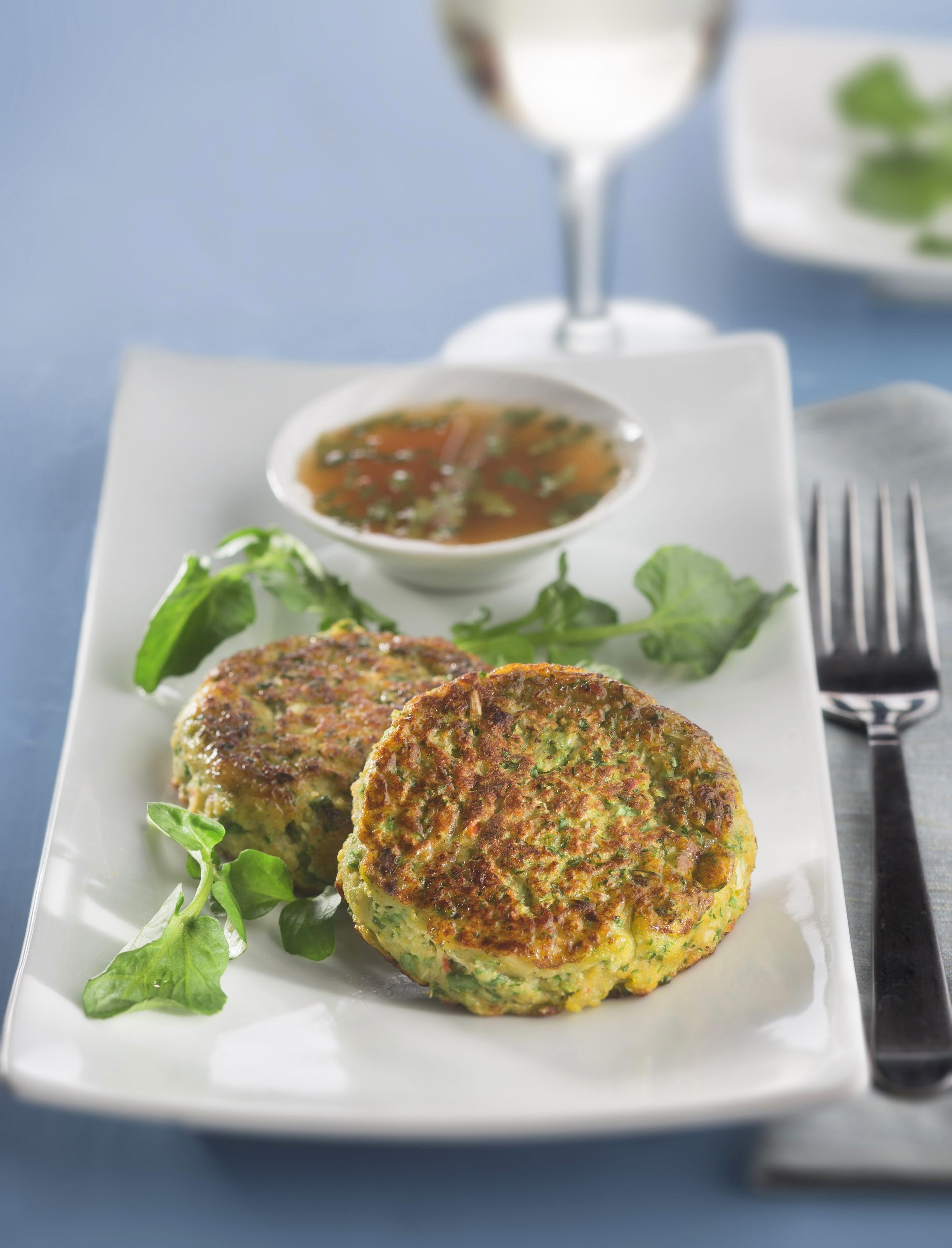 Spicy fish cakes with citrus sauce make for a light Lenten meal.