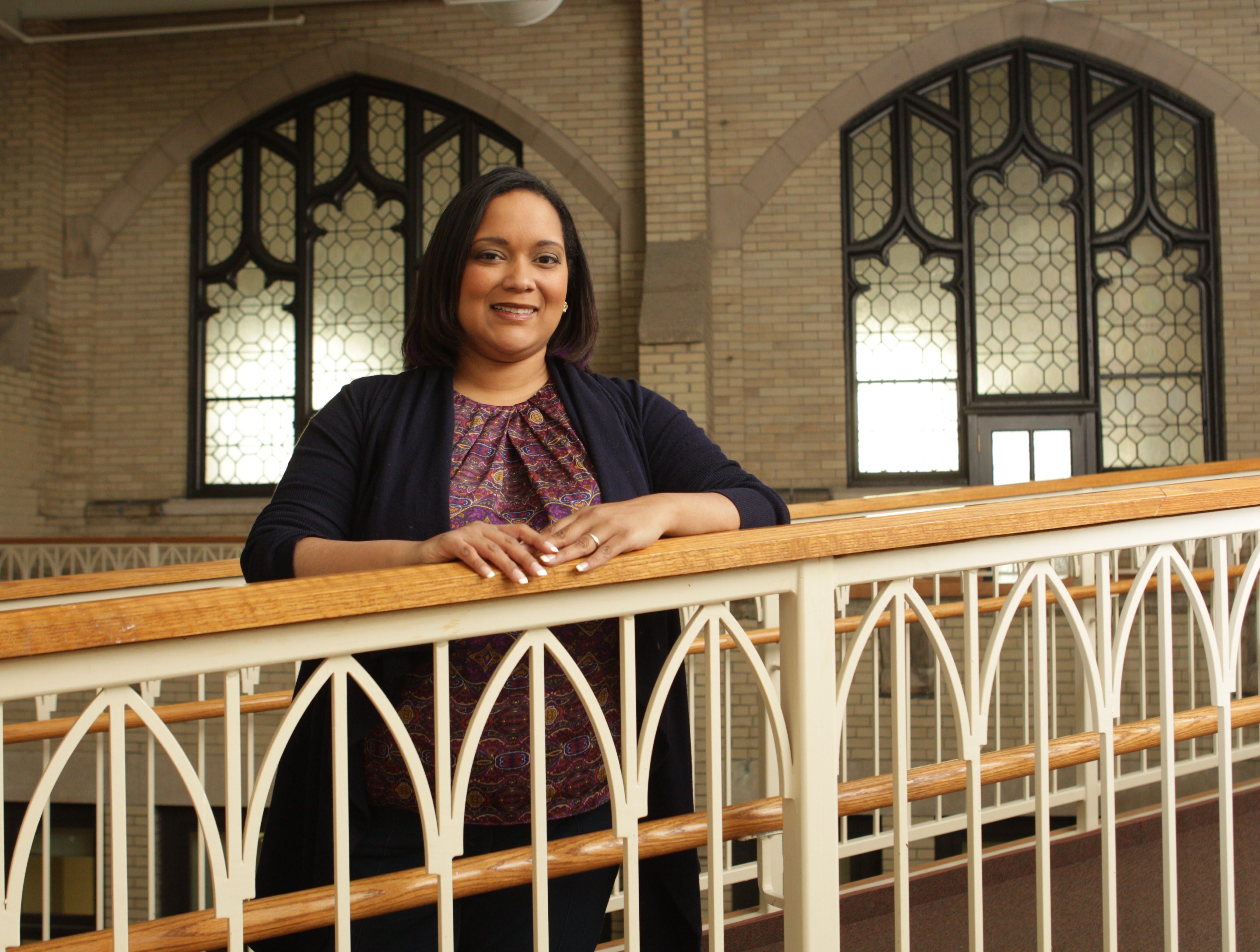 Nicole Lee, director of TransAfrica, returned to her alma mater, Buffalo Seminary, for the school's trustees meeting in late January.