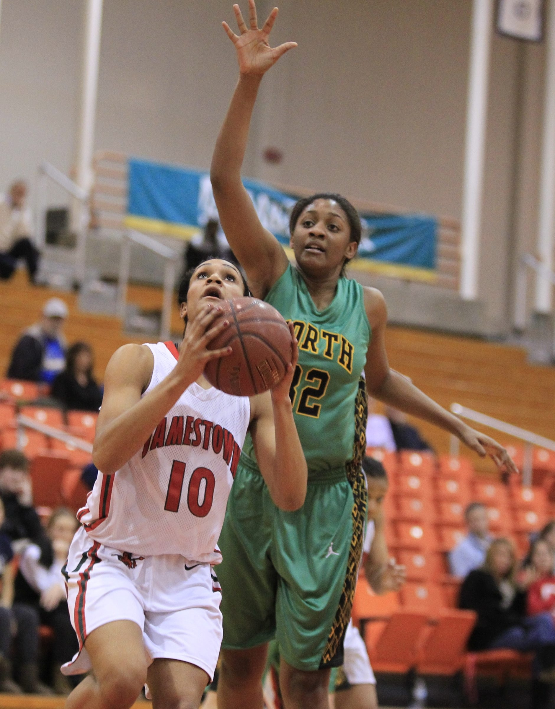 Jamestown's Chrisanna Green is one of five junior starters that will try and beat Gates-Chili today in Class AA.