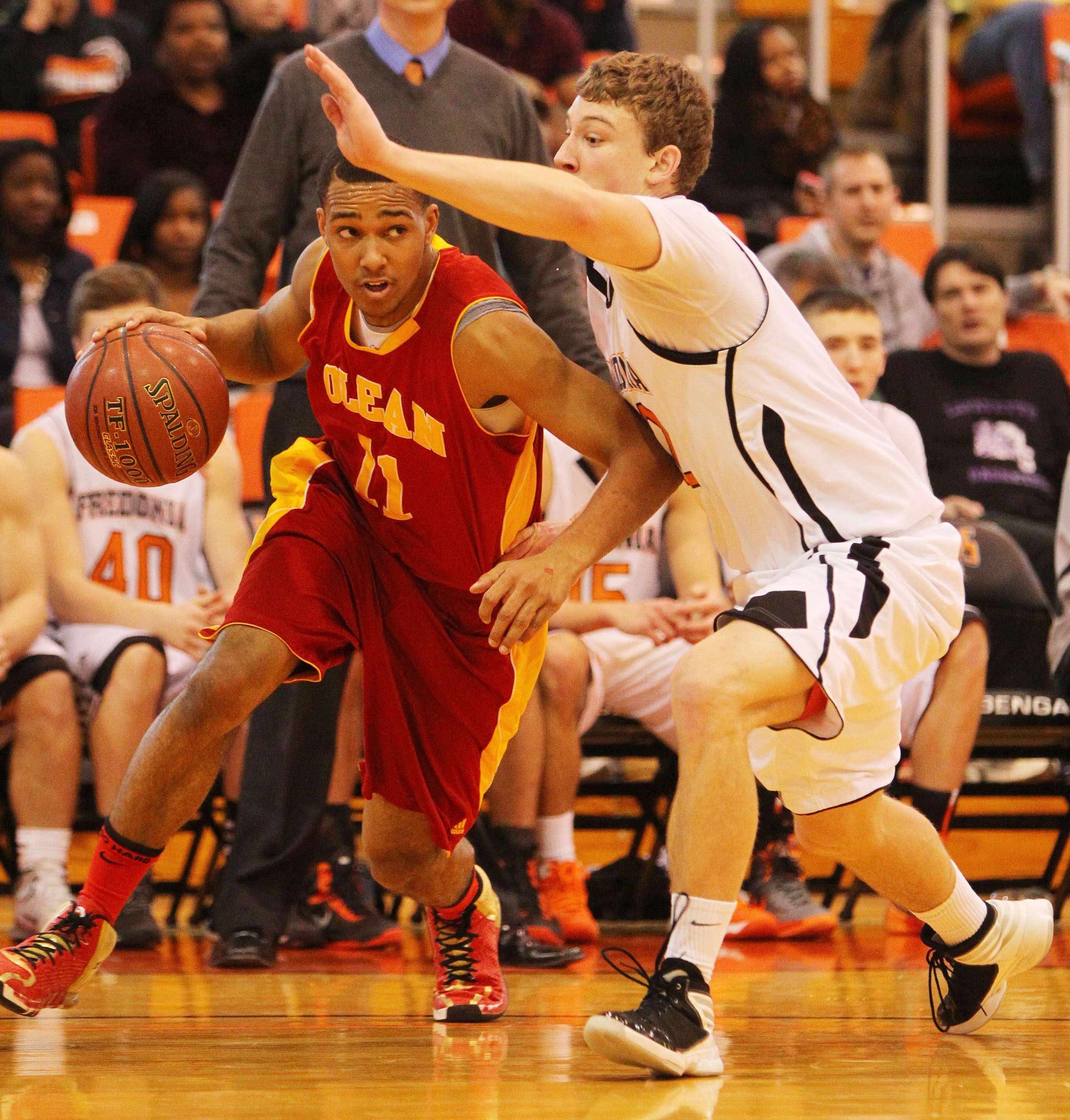 Wil Bathurst, who will play collegiately at Cornell, is a key part of the Olean offense. The Huskies are three-time sectional champions.